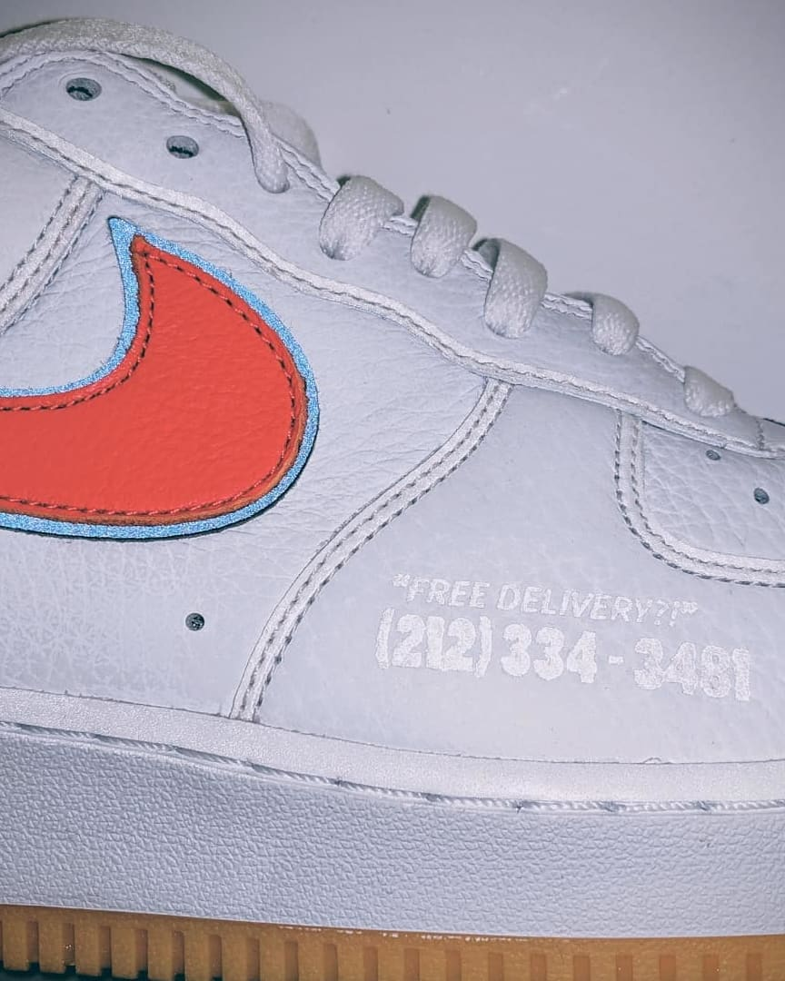 Scarr's Pizza x Nike Air Force 1 Low CN3424-100 (Detail)