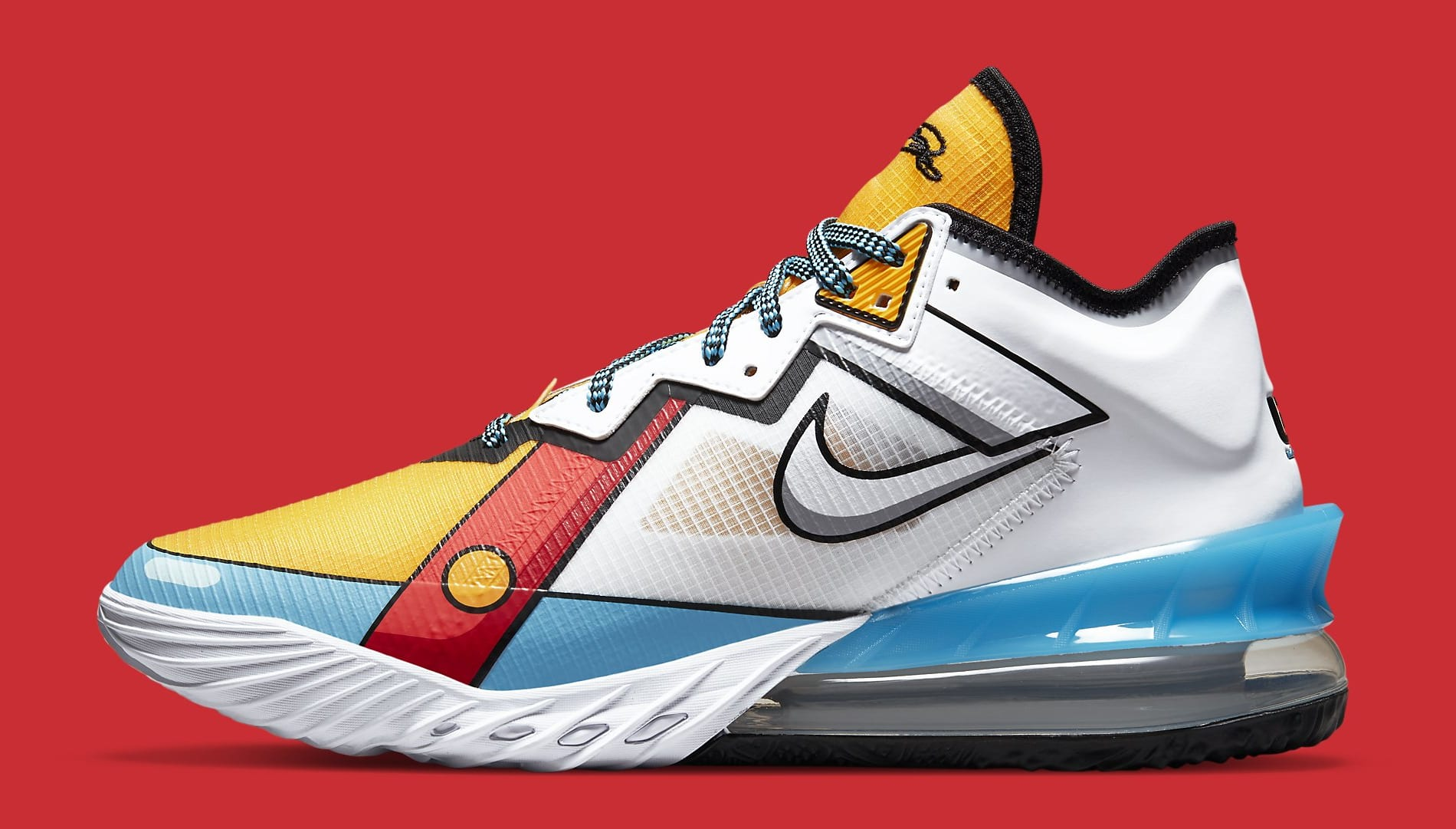 Nike LeBron 18 Low 'Stewie Griffin' CV7564-104 Lateral