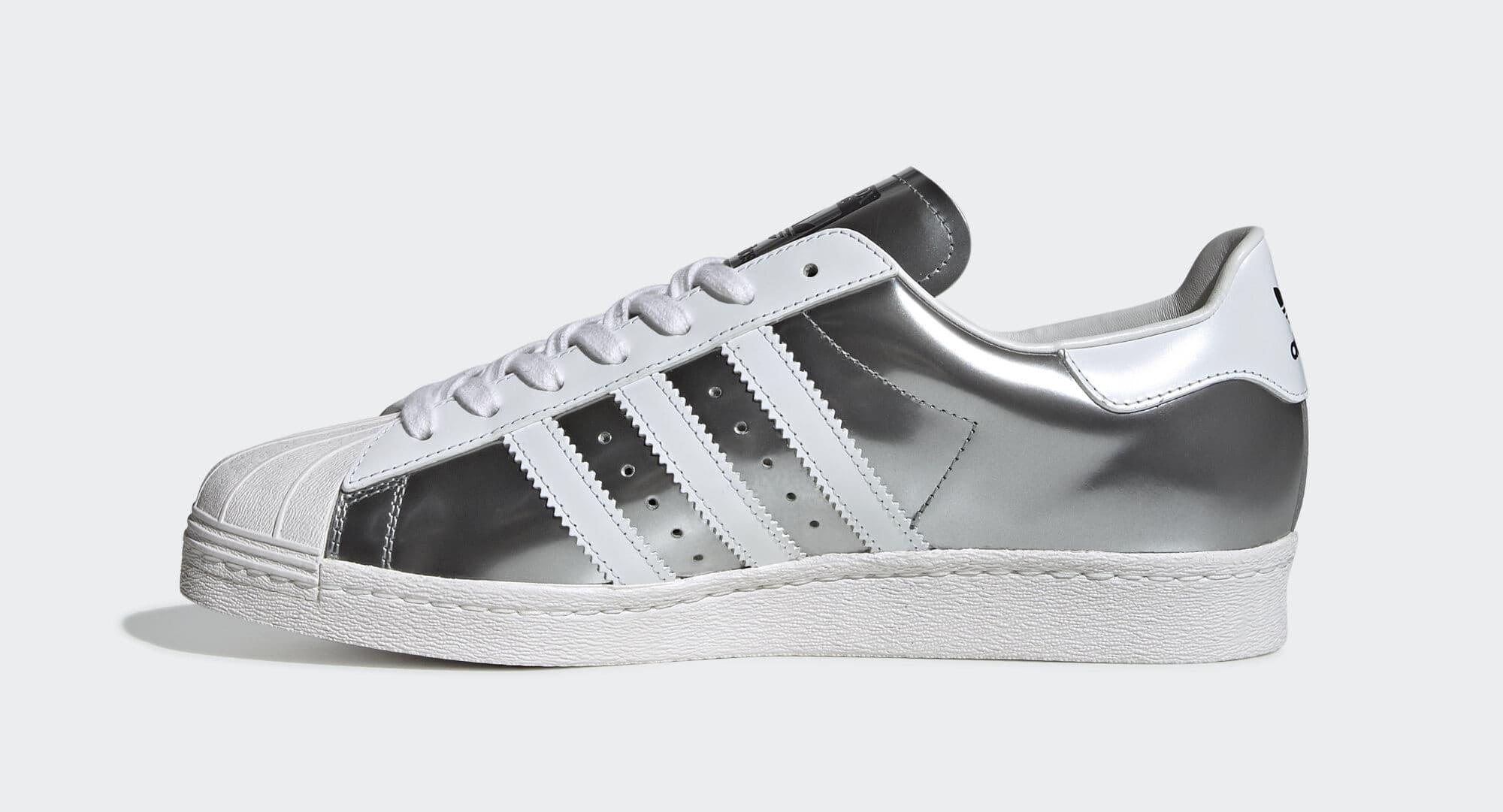 Prada x Adidas Superstar 'Silver Metallic' FX4546 (Medial)