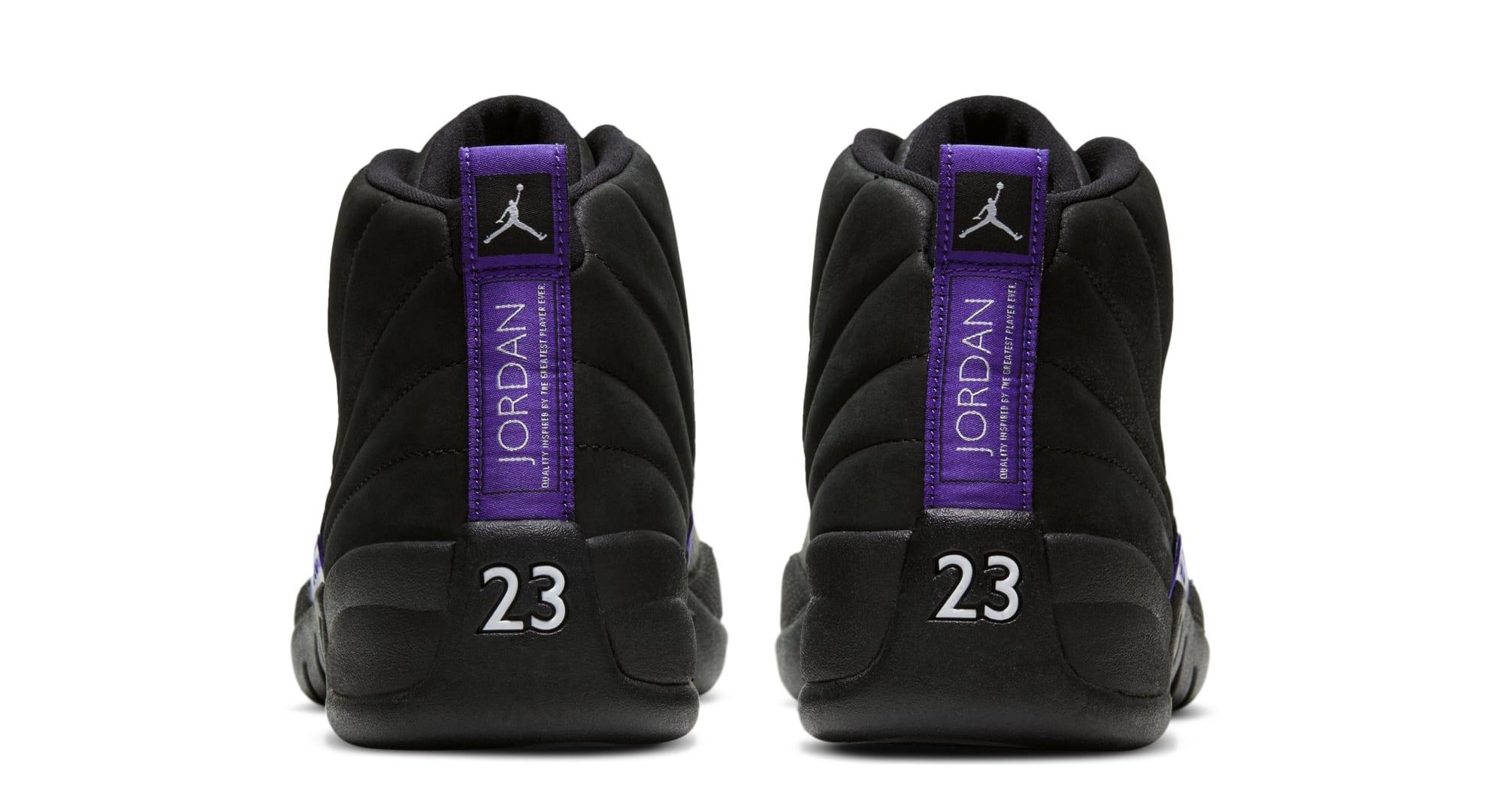 Air Jordan 12 Retro 'Black/Black/Dark Concord' CT8013-005 (Heel)