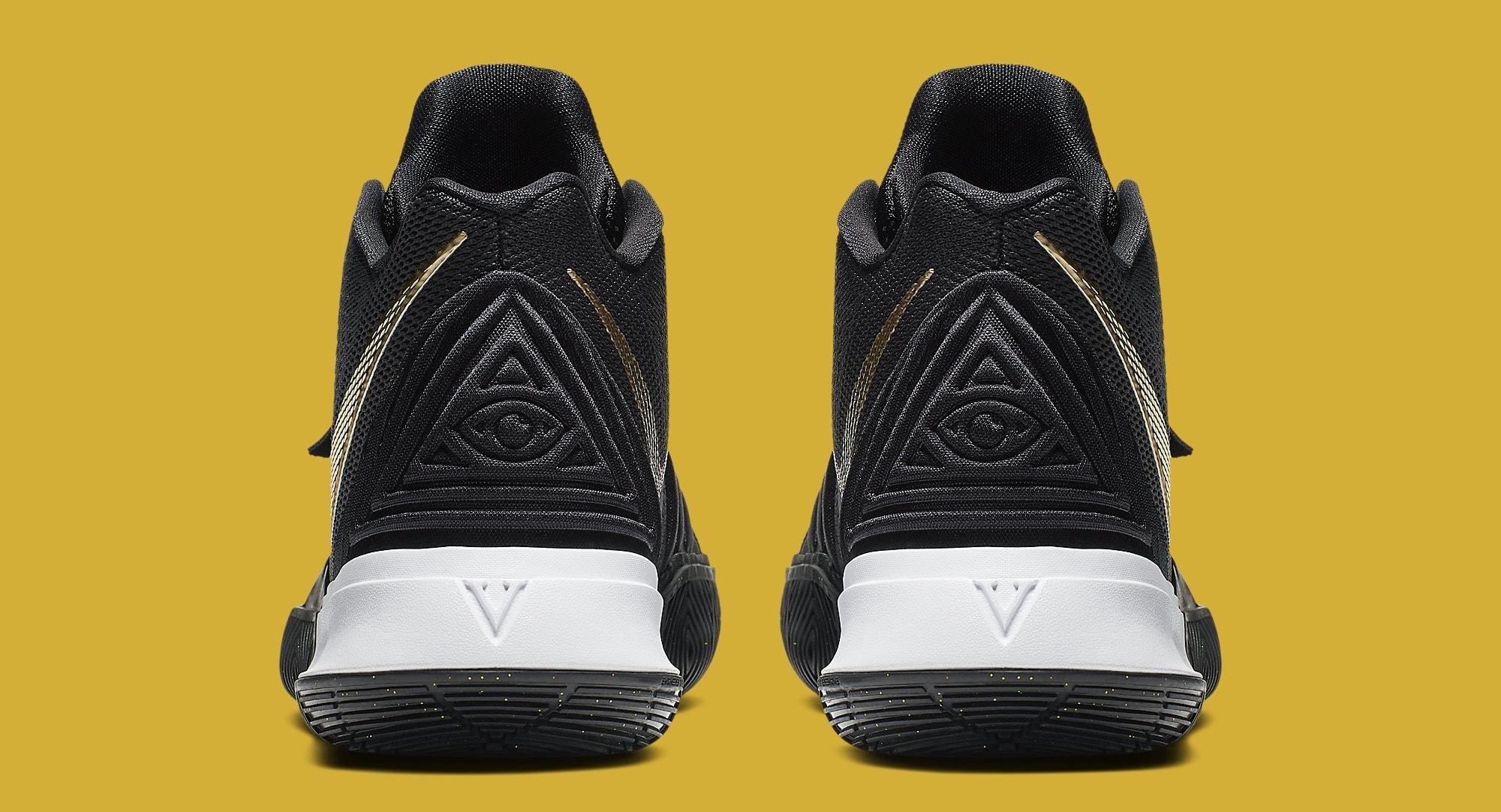 Nike Kyrie 5 'Black/Gold' AO2918-007 Heel
