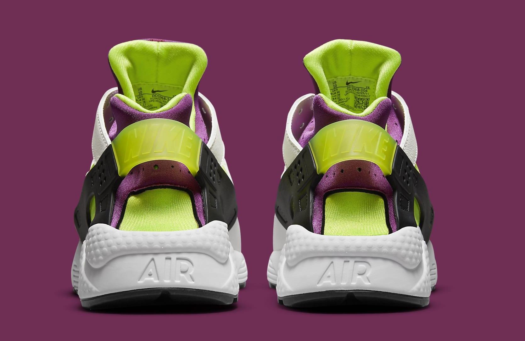 Nike Air Huarache Neon Yellow/Magenta DD1068-104 Heel