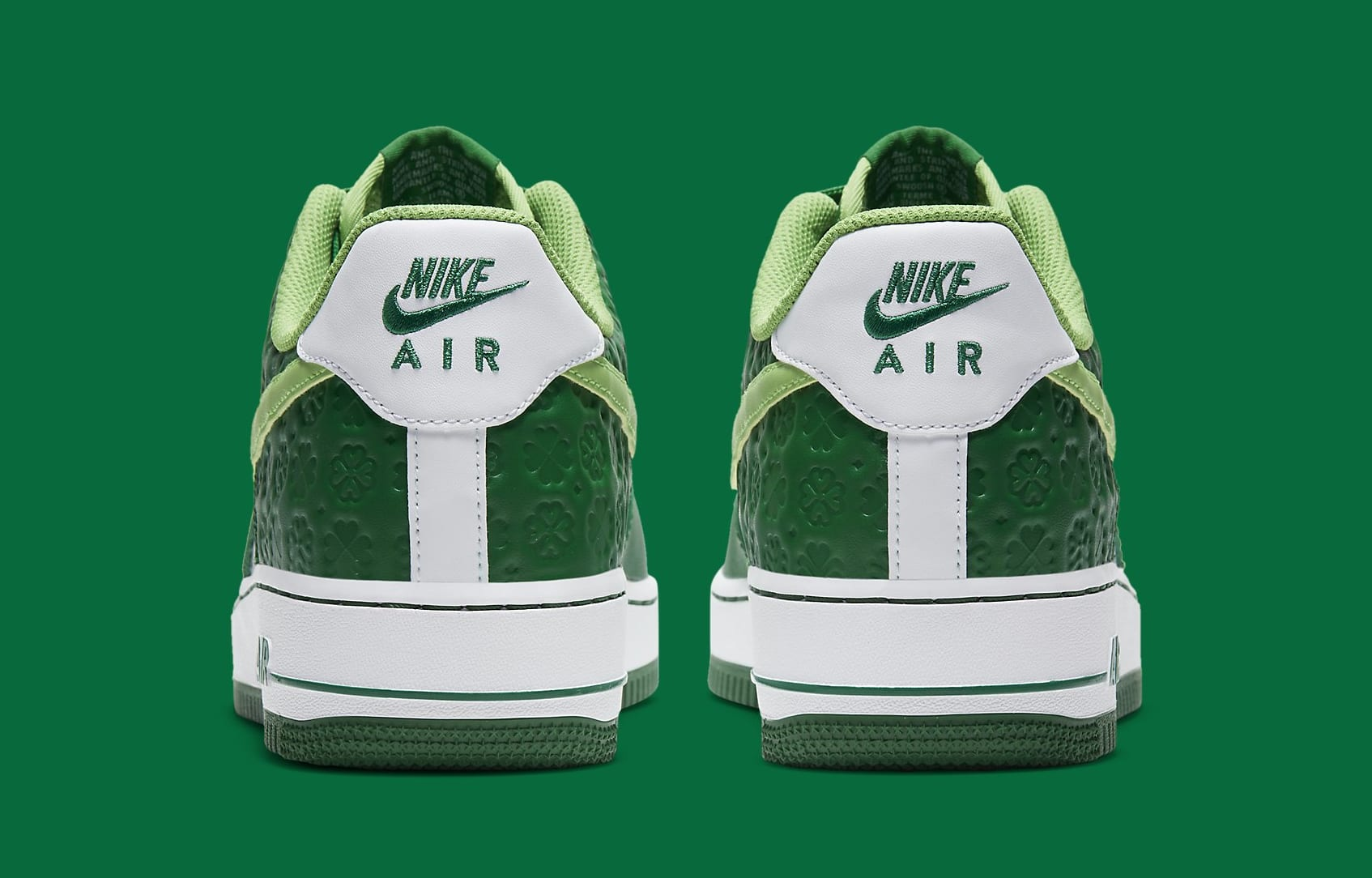 Nike Air Force 1 Low 'St. Patrick's Day' DD8458-300 Heel