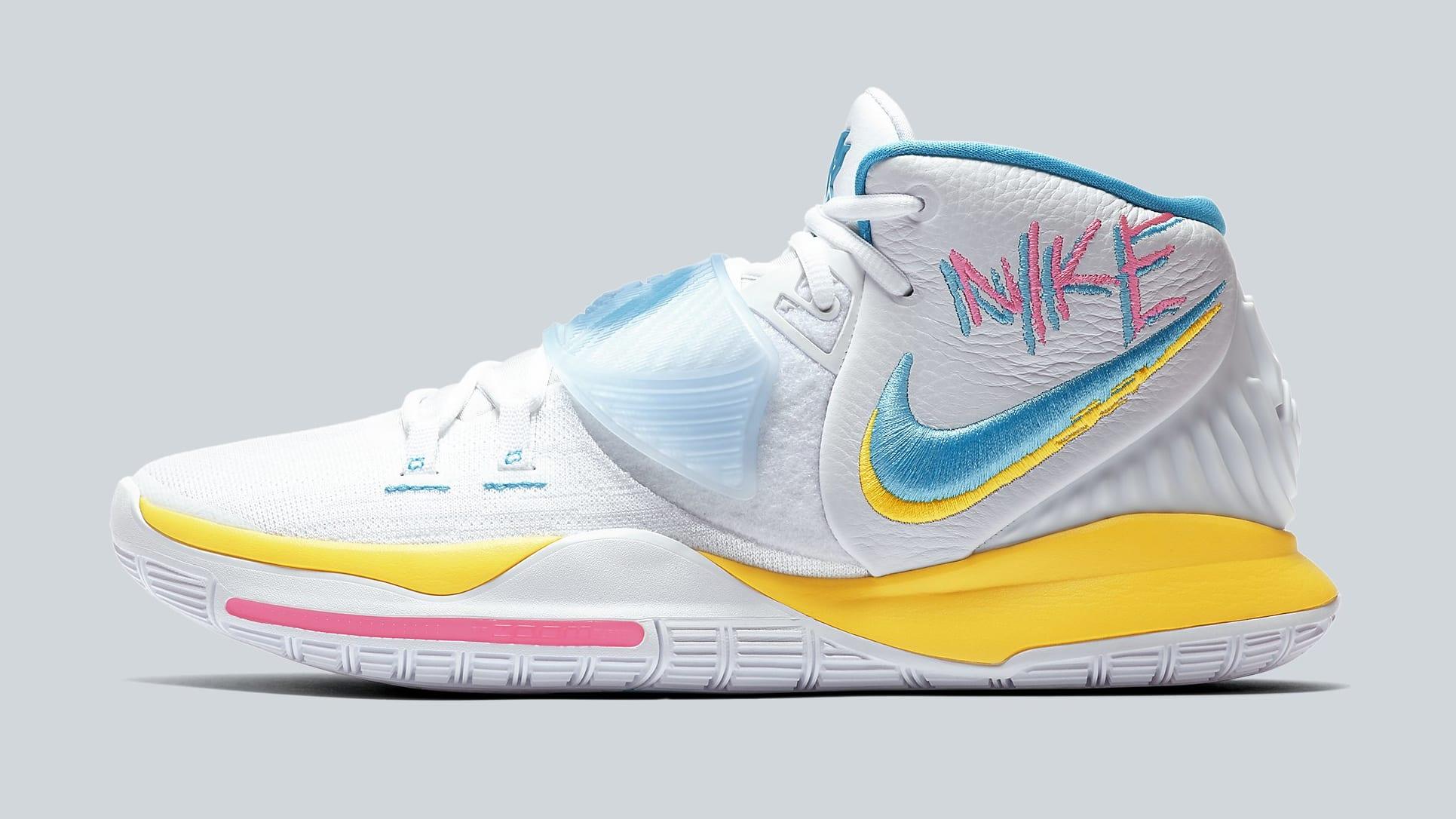 Nike Kyrie 6 'Neon Graffiti' BQ4630-101 Lateral