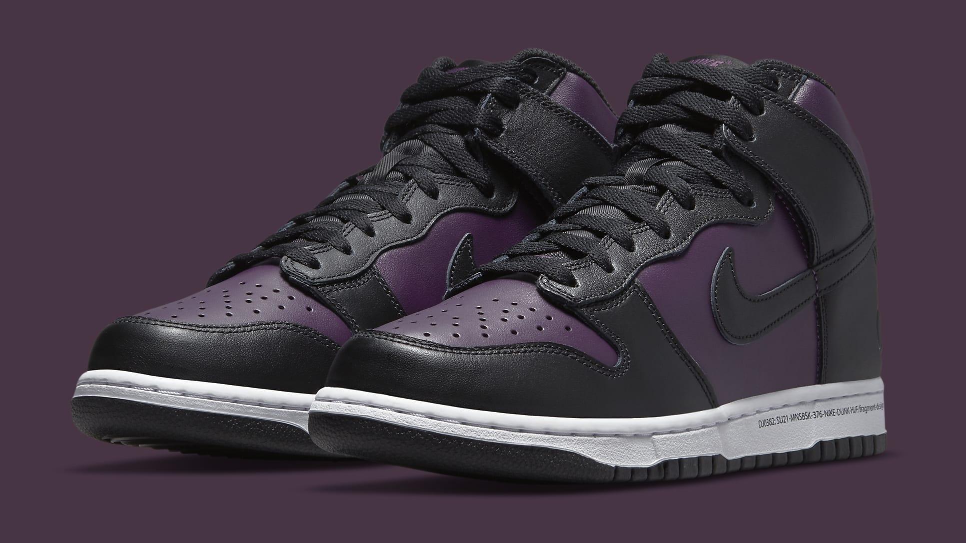 Fragment Design x Nike Dunk High 'Black' DJ0382-600 Pair