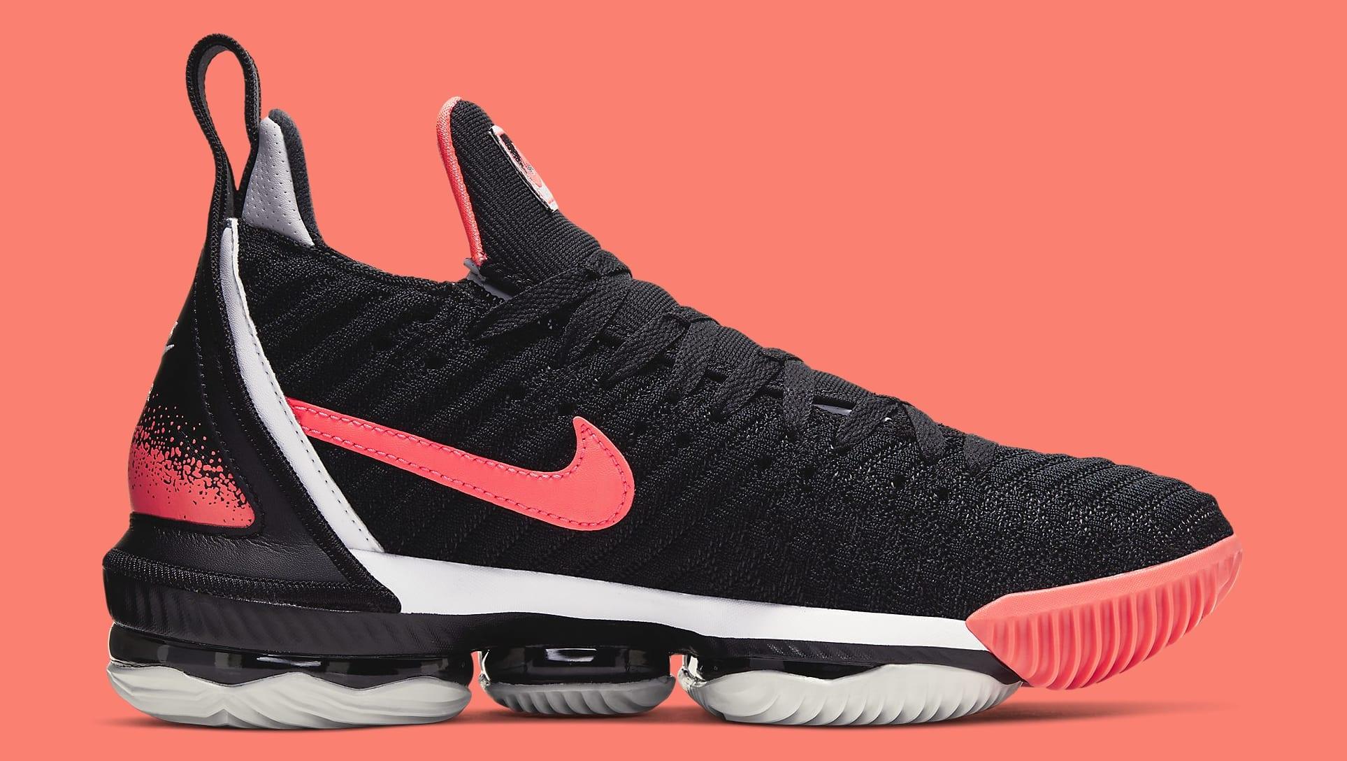 Nike LeBron 16 'Hot Lava' Black CI1521-001 Medial