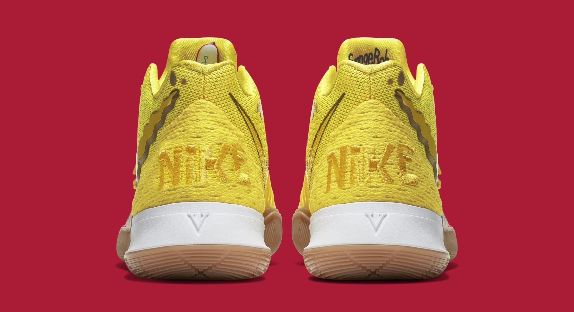 'SpongeBob SquarePants' x Nike Kyrie 5 'SpongeBob' CJ6951-700 (Heel)