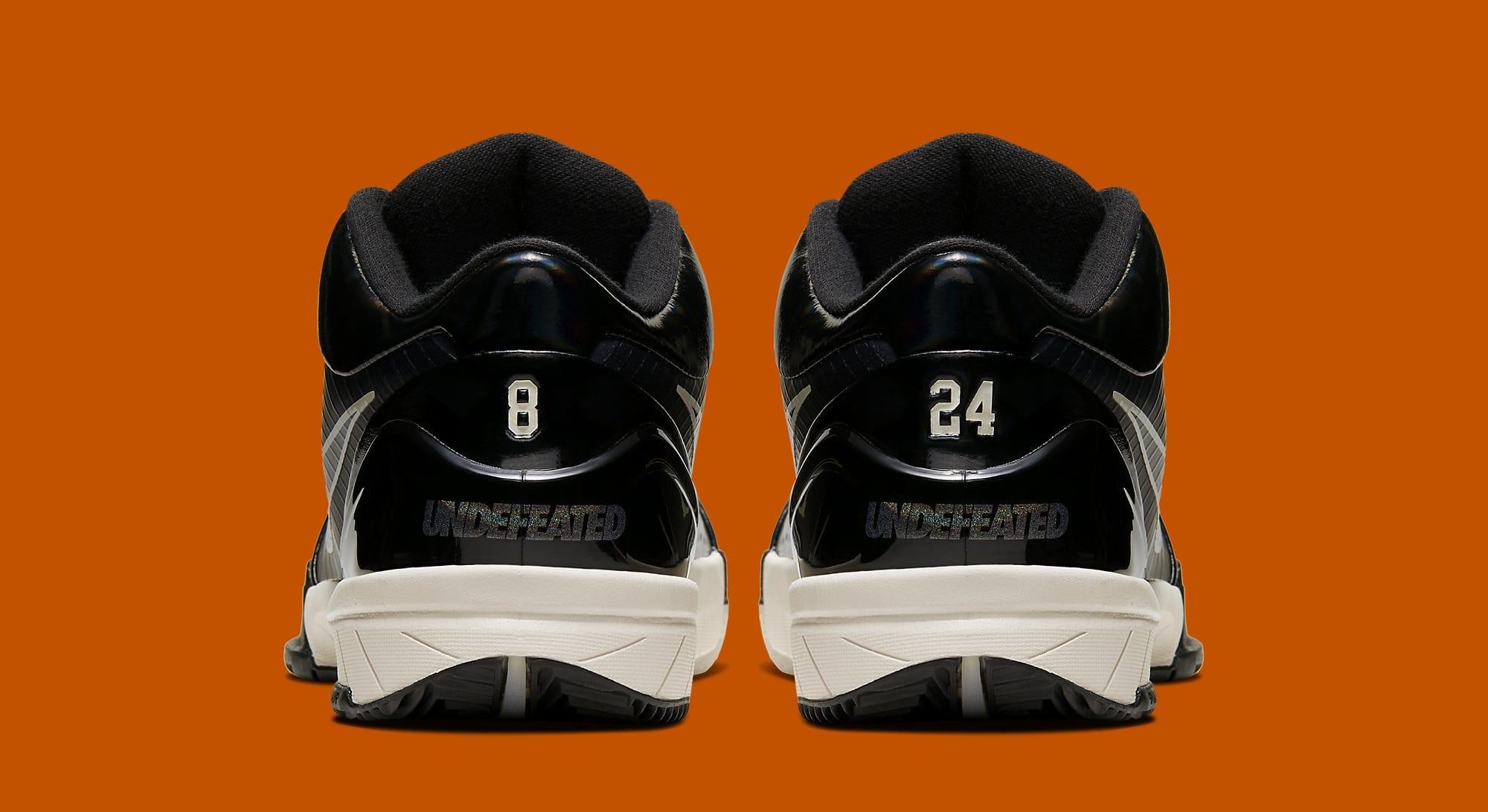 Undefeated x Nike Kobe 4 Protro 'Black Mamba' CQ3869-001 (Heel)