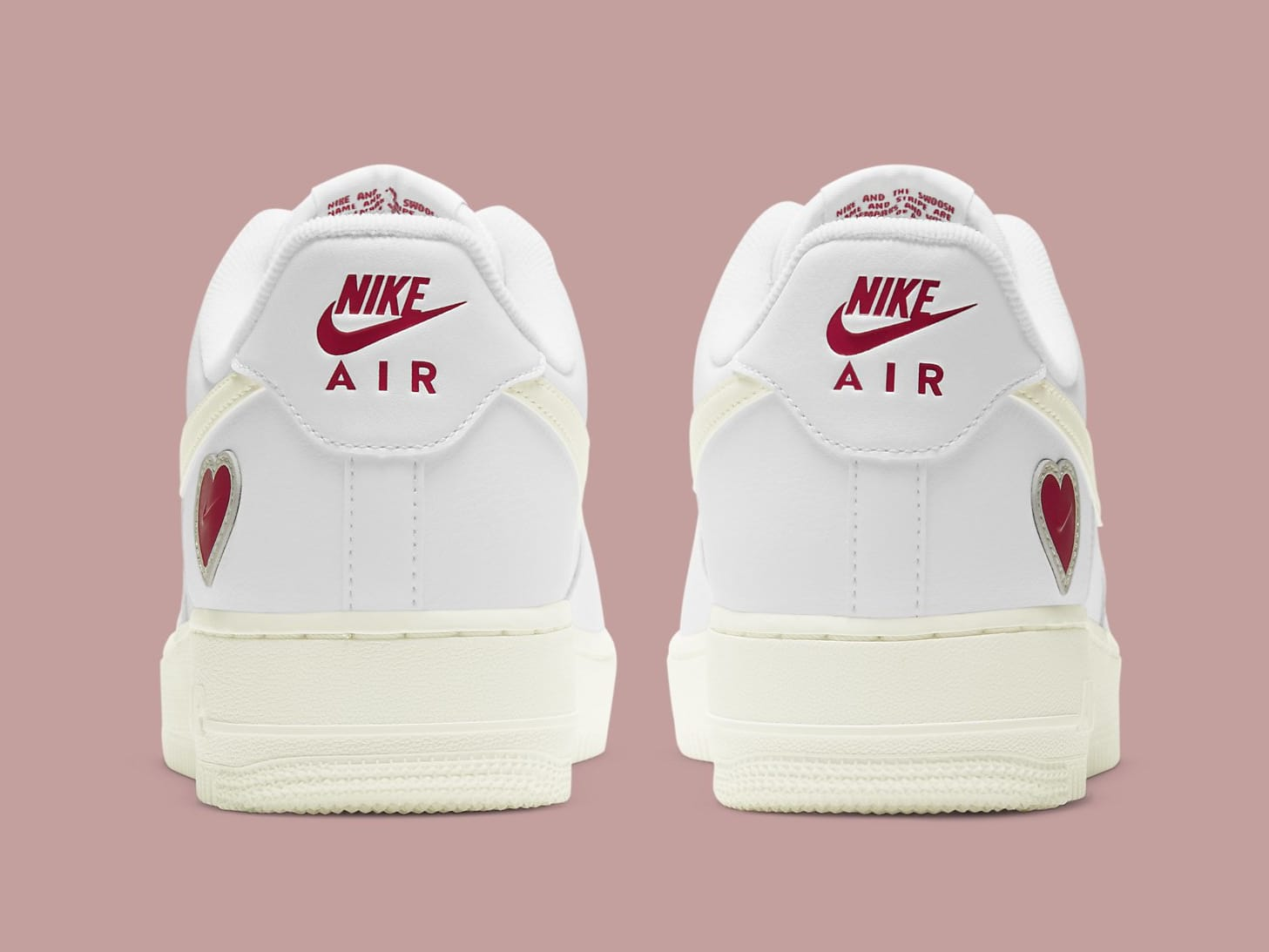 Nike Air Force 1 Low Valentine's Day 2021 Release Date DD7117-100 Heel