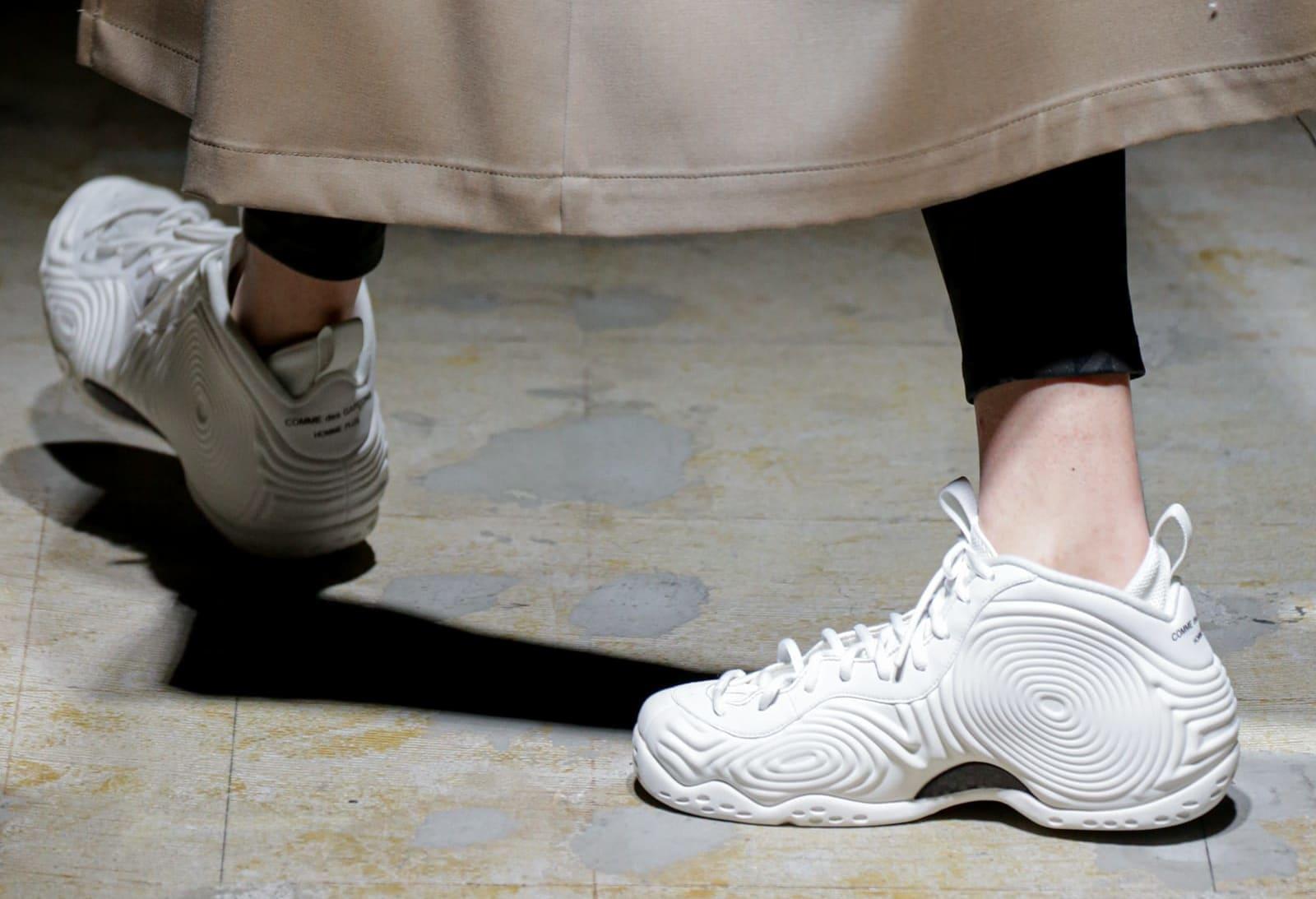 Comme des Garçons x Nike Air Foamposite One (White 2)