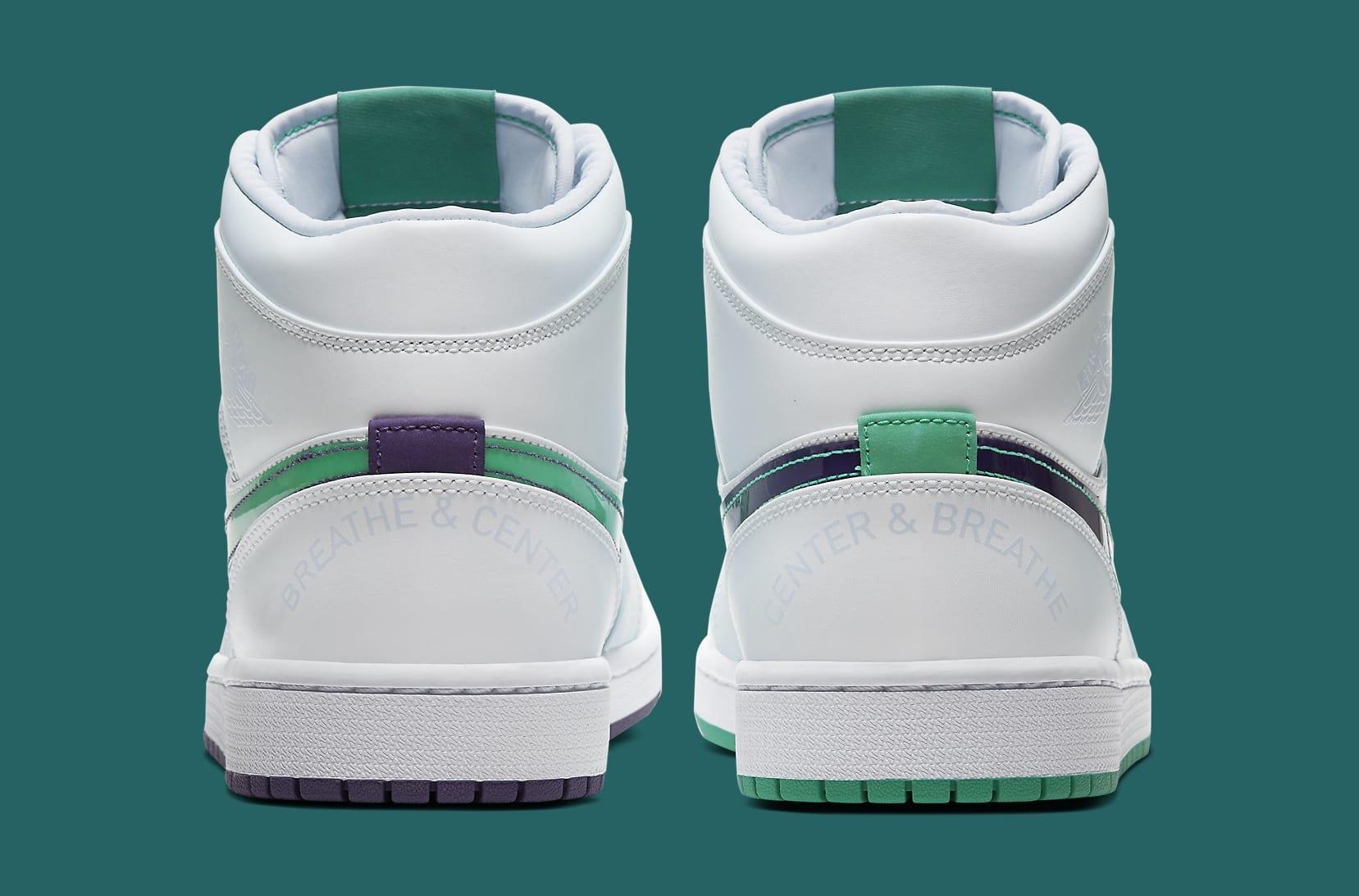Air Jordan 1 Mid SE 'Nike Hoops' CW5853-100 Heel