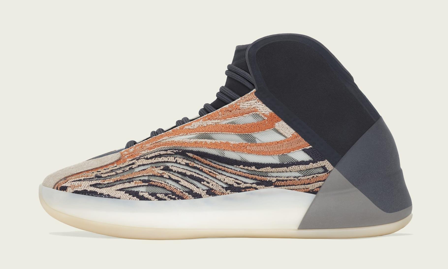 Adidas Yeezy QNTM 'Flash Orange' GW5314 Medial