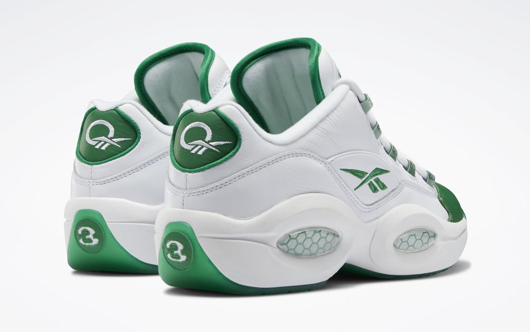 Reebok Question Low 'Green Toe' GZ0367 Heel