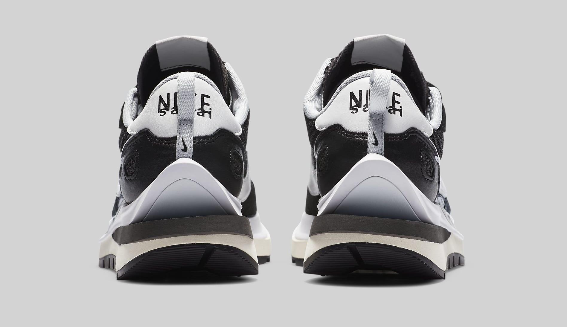 Sacai x Nike VaporWaffle 'Black' CV1363-001 Heel