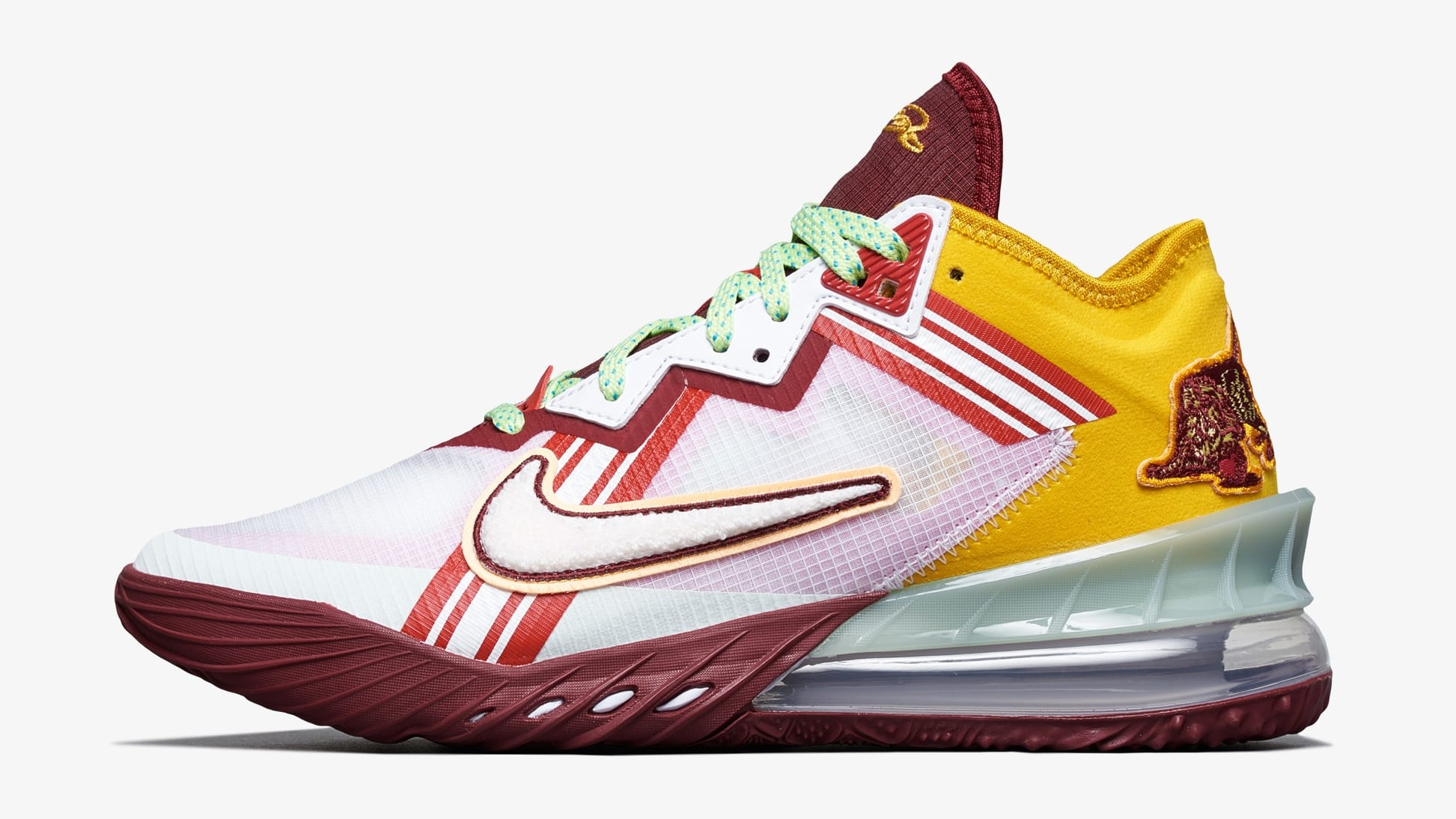 Mimi Plange x Nike LeBron 18 Low 'Higher Learning' CV7562-102 Lateral