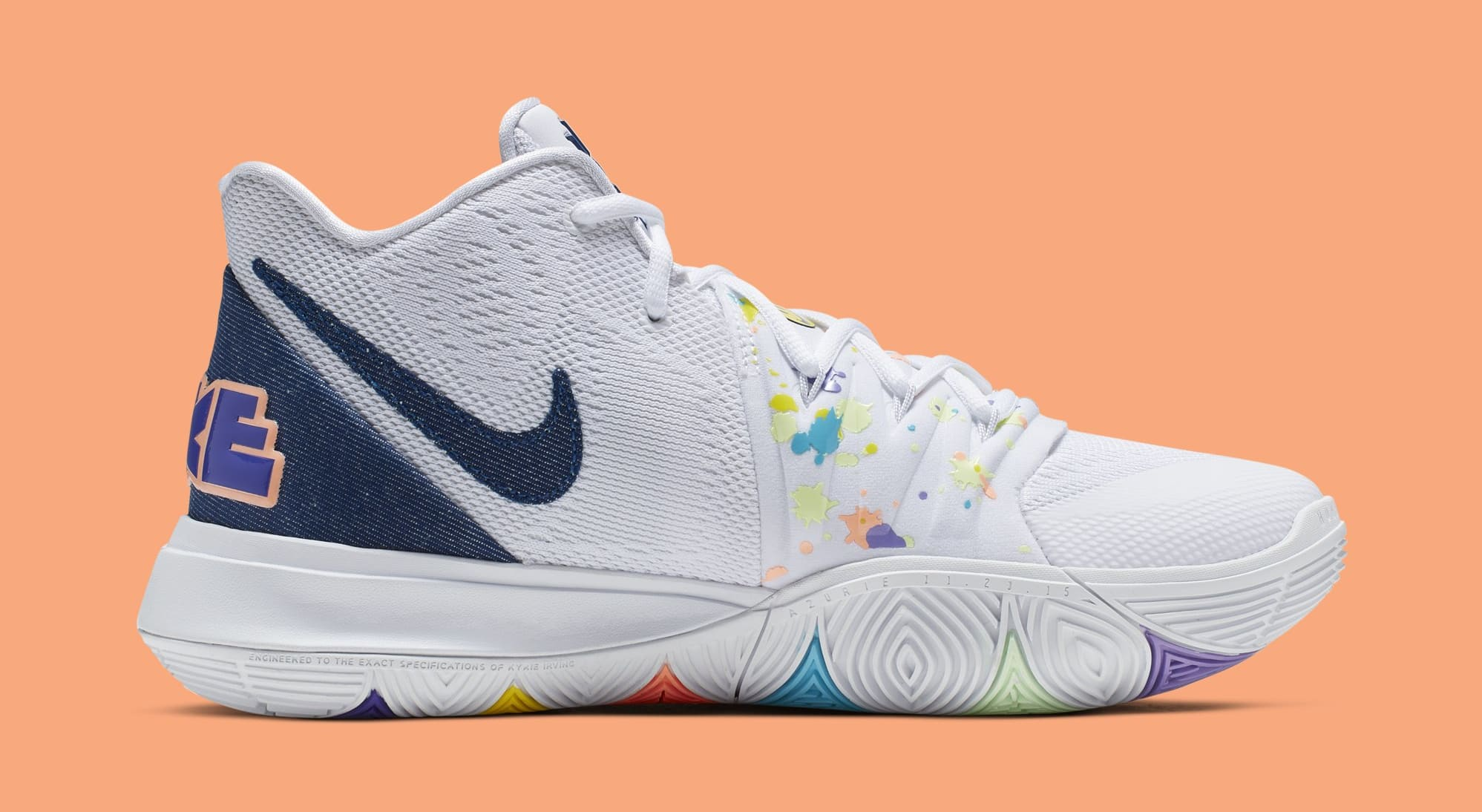 dd59a681ee711 Nike Kyrie 5 'Have a Nike Day' White/Deep Royal-Glacier Blue AO2919 ...