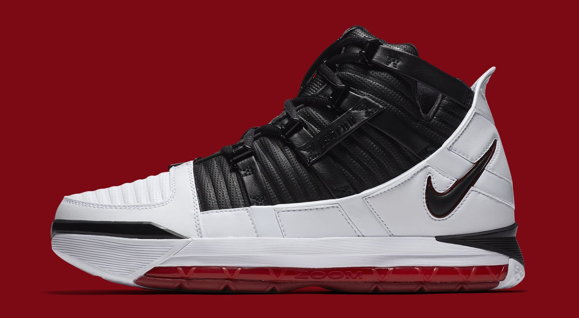 fa483208895 Nike Zoom LeBron 3  Home  White Black-Varsity Crimson AO2434-101 ...