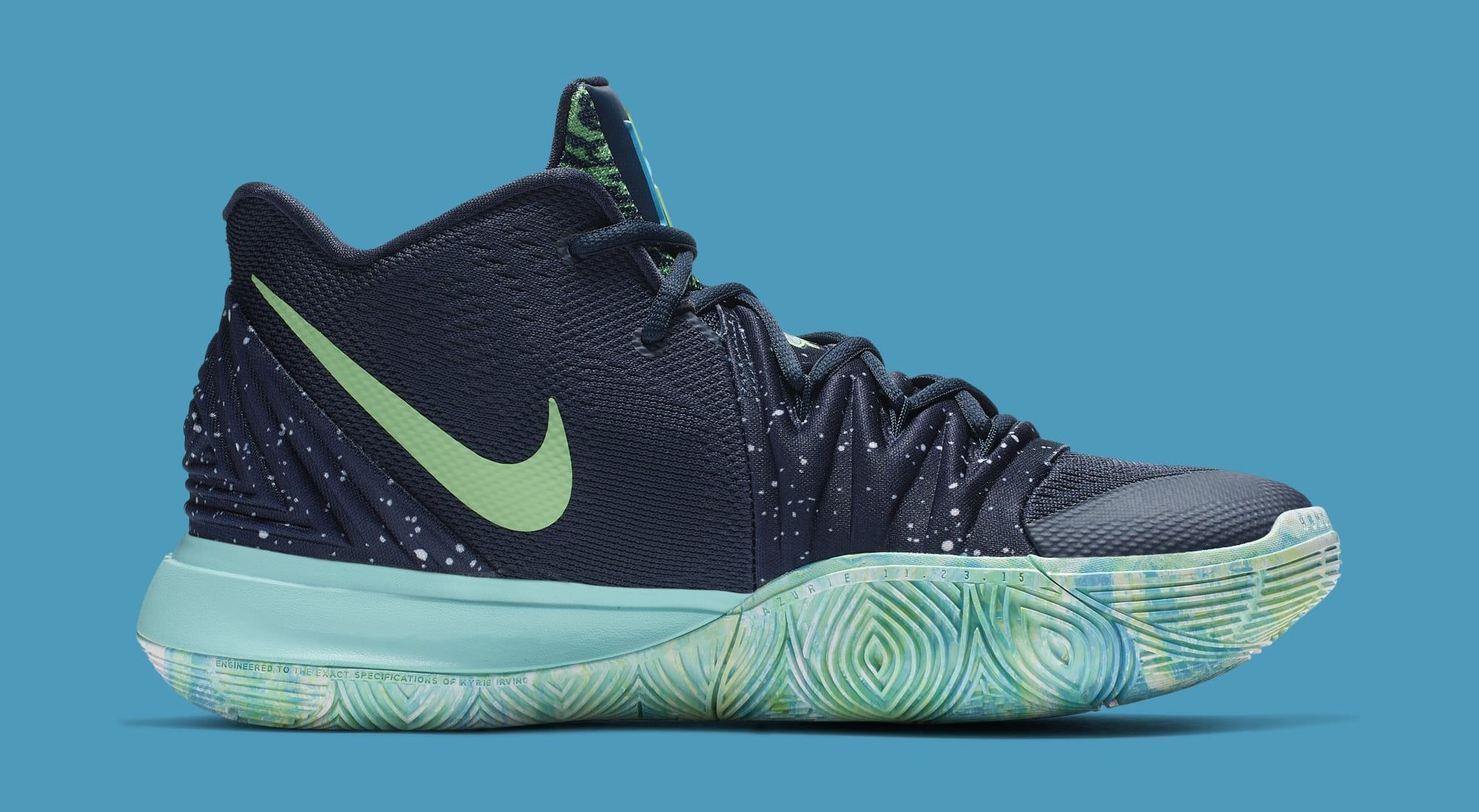 ad63dbe854f0 Nike Kyrie 5  UFO  Obsidian Light Current Green-Scream Green AO2918 ...
