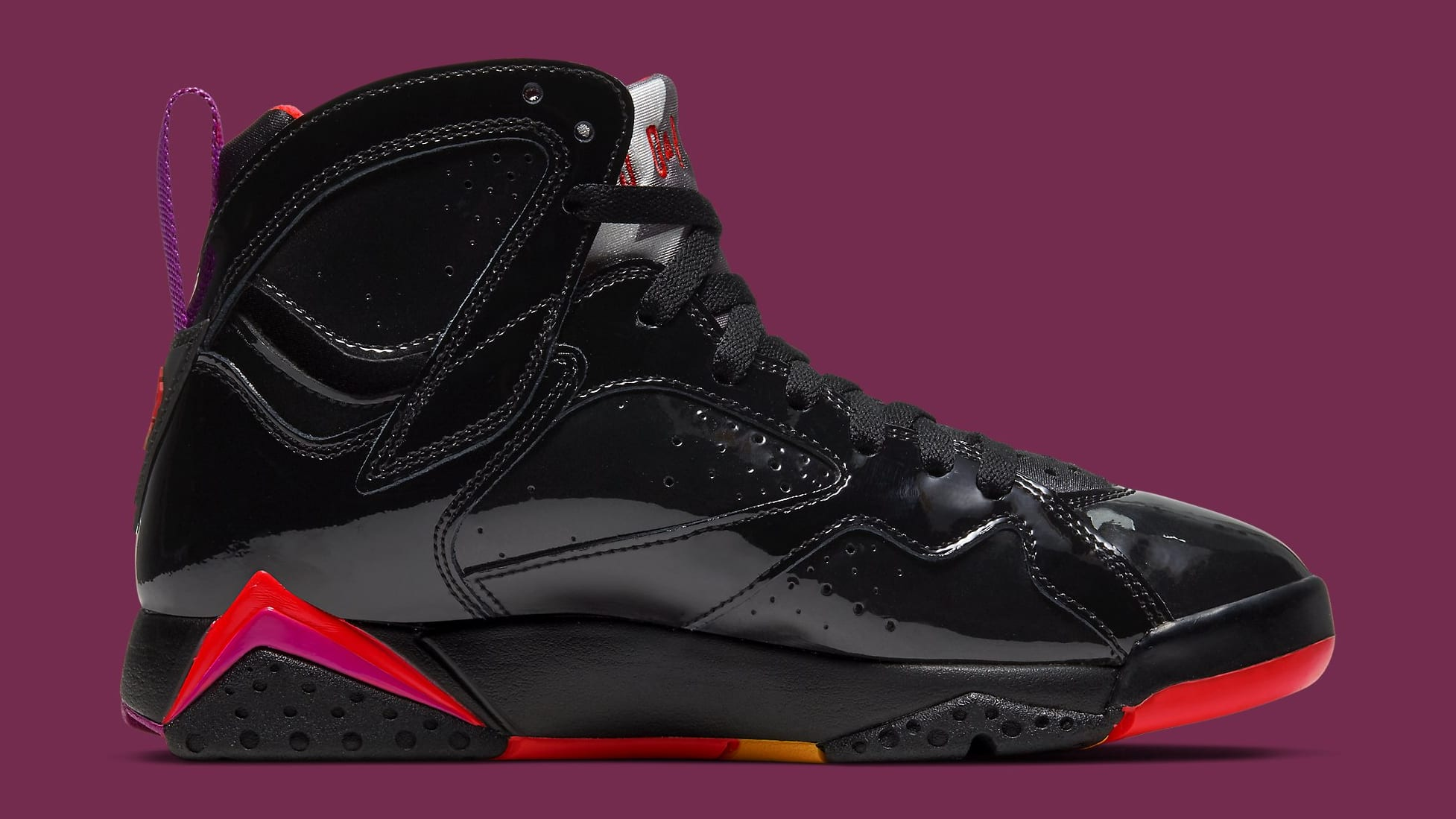 Air Jordan 7 Retro WMNS 'Black Patent Leather' 313358 006