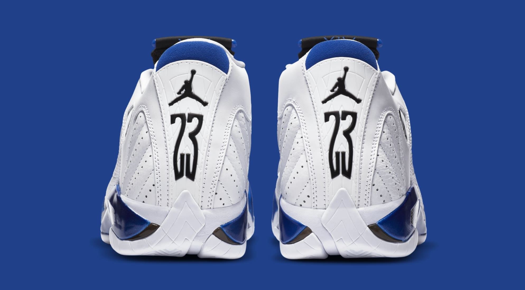 Air Jordan 14 Retro 'Hyper Royal' 487471-104 (Heel)