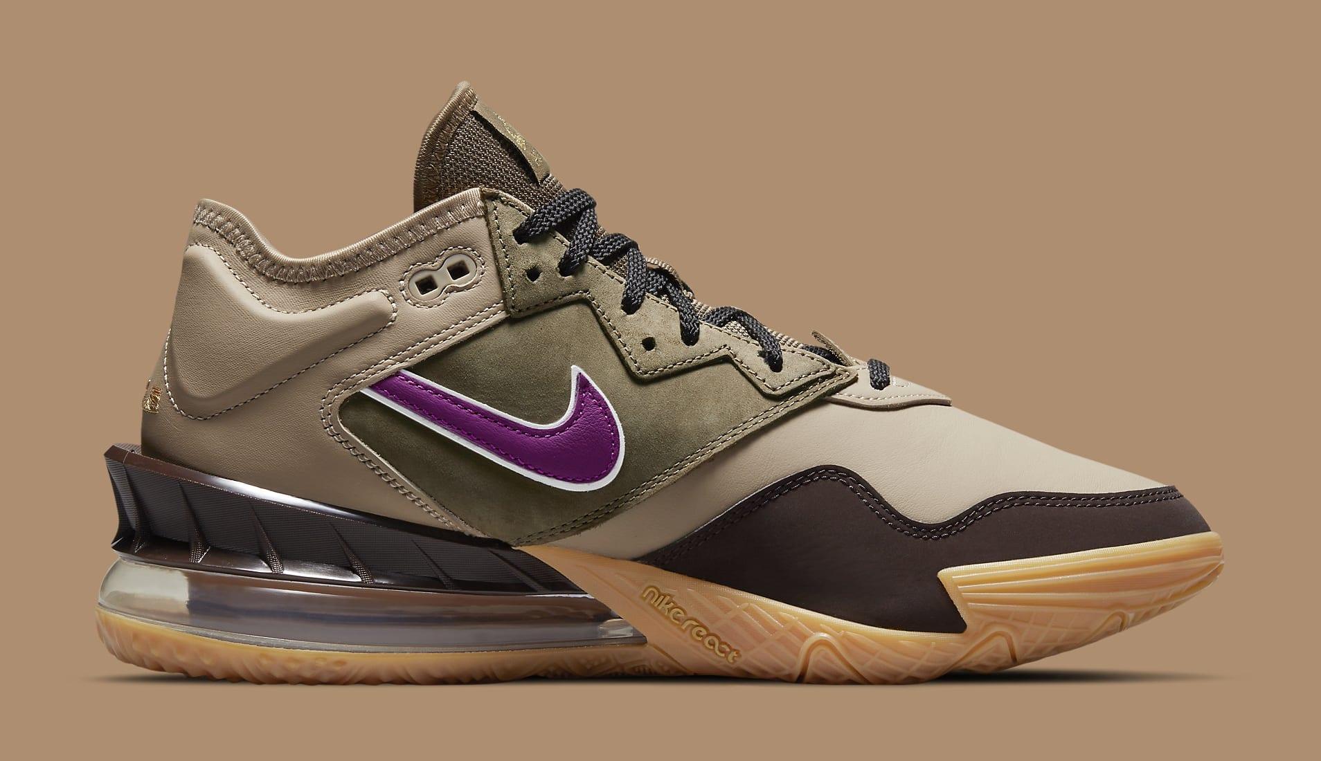 Atmos x Nike LeBron 18 Low 'Viotech' CW5635-200 Medial