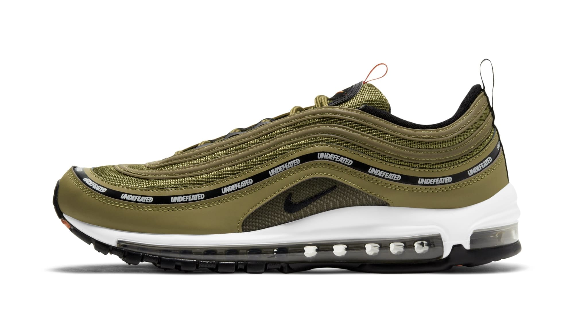 Undefeated x Nike Air Max 97 'Militia Green' DC4830-300 (Lateral)