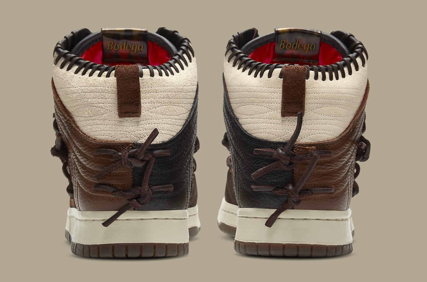 Bodega x Nike Dunk High CZ8125-200 Heel
