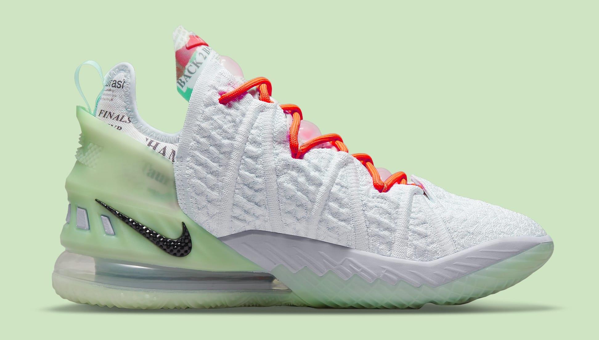 Diana Taurasi x Nike LeBron 18 PE CQ9283-401 Medial