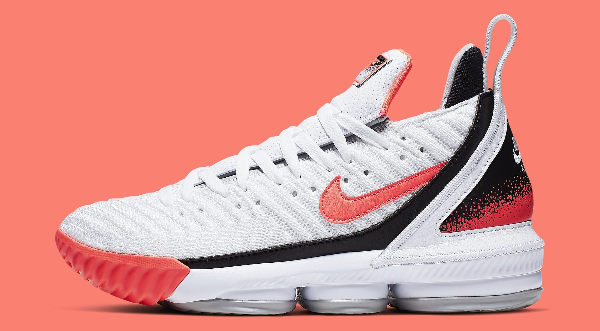 Nike LeBron 16 'Hot Lava' White CI1521-100 Lateral