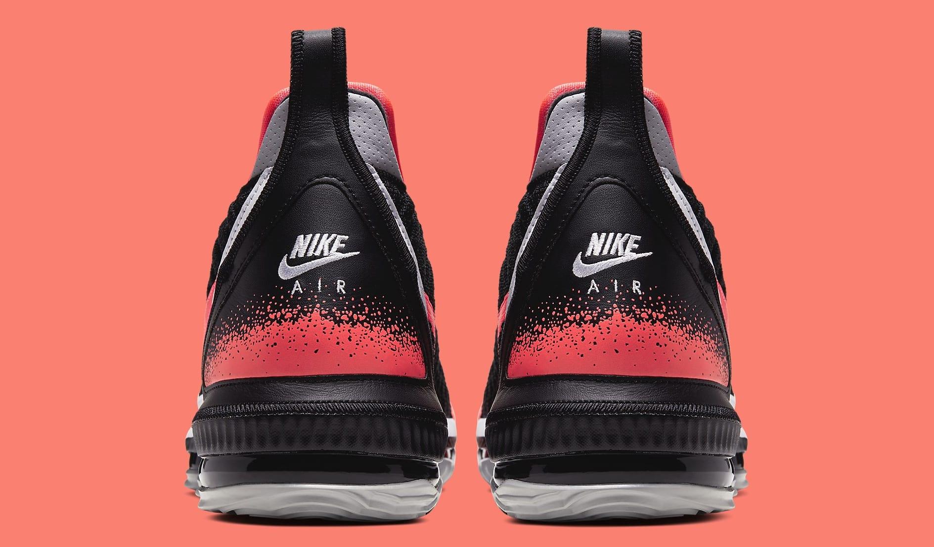 Nike LeBron 16 'Hot Lava' Black CI1521-001 Heel