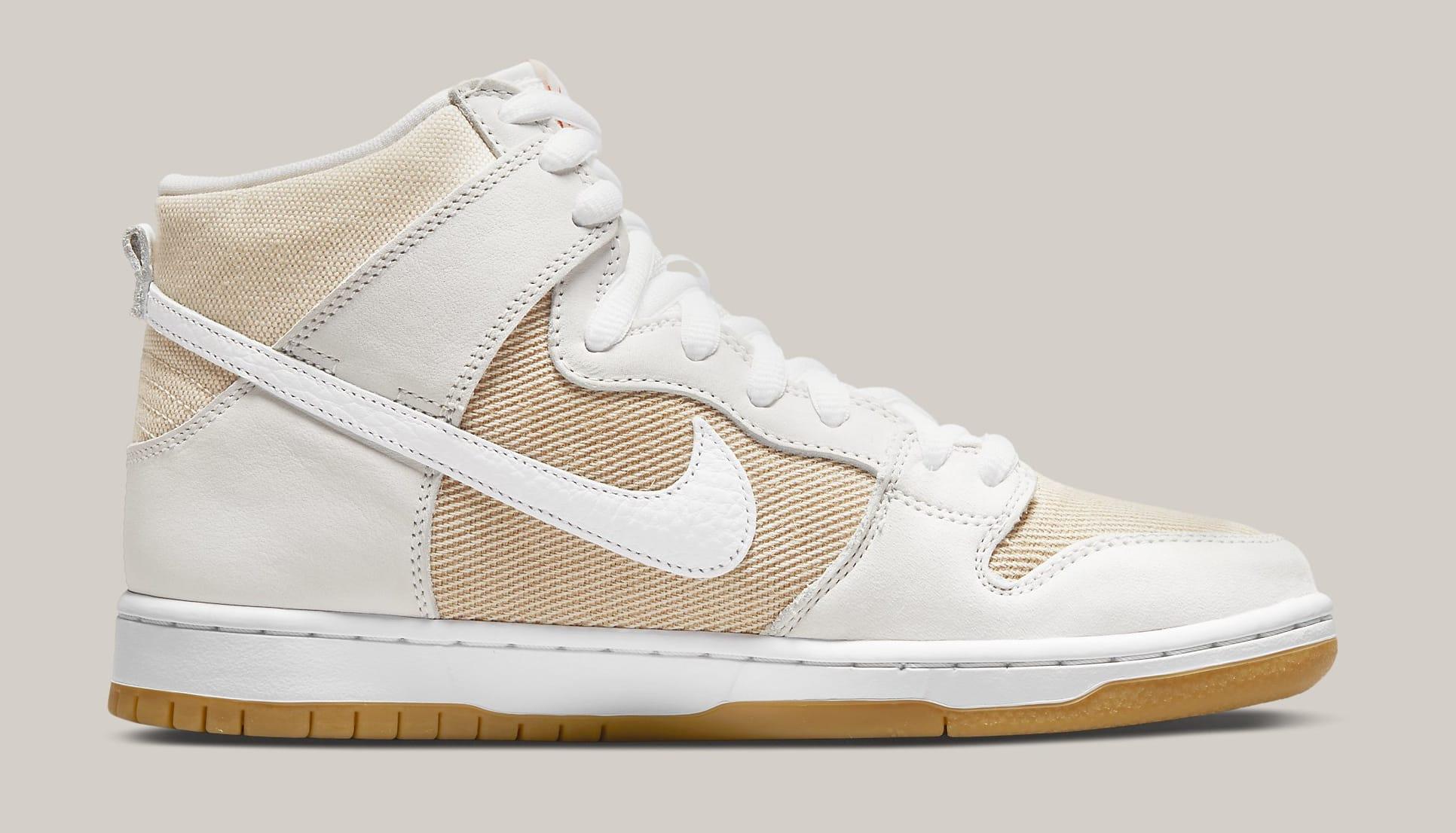 Nike SB Dunk High 'Unbleached' DA9626-100 Medial