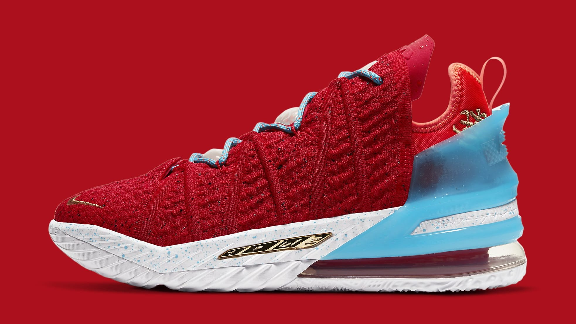 Nike LeBron 18 'Chinese New Year' CW3155-600 Lateral