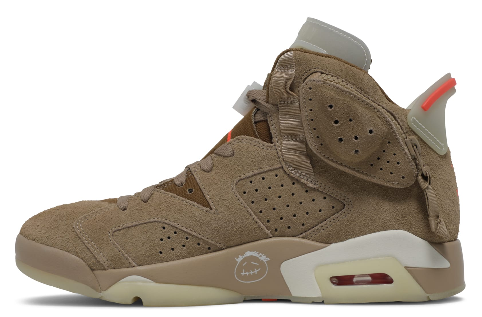 Travis Scott x Air Jordan 6 VI British Khaki Release Date DH0690-200 Medial