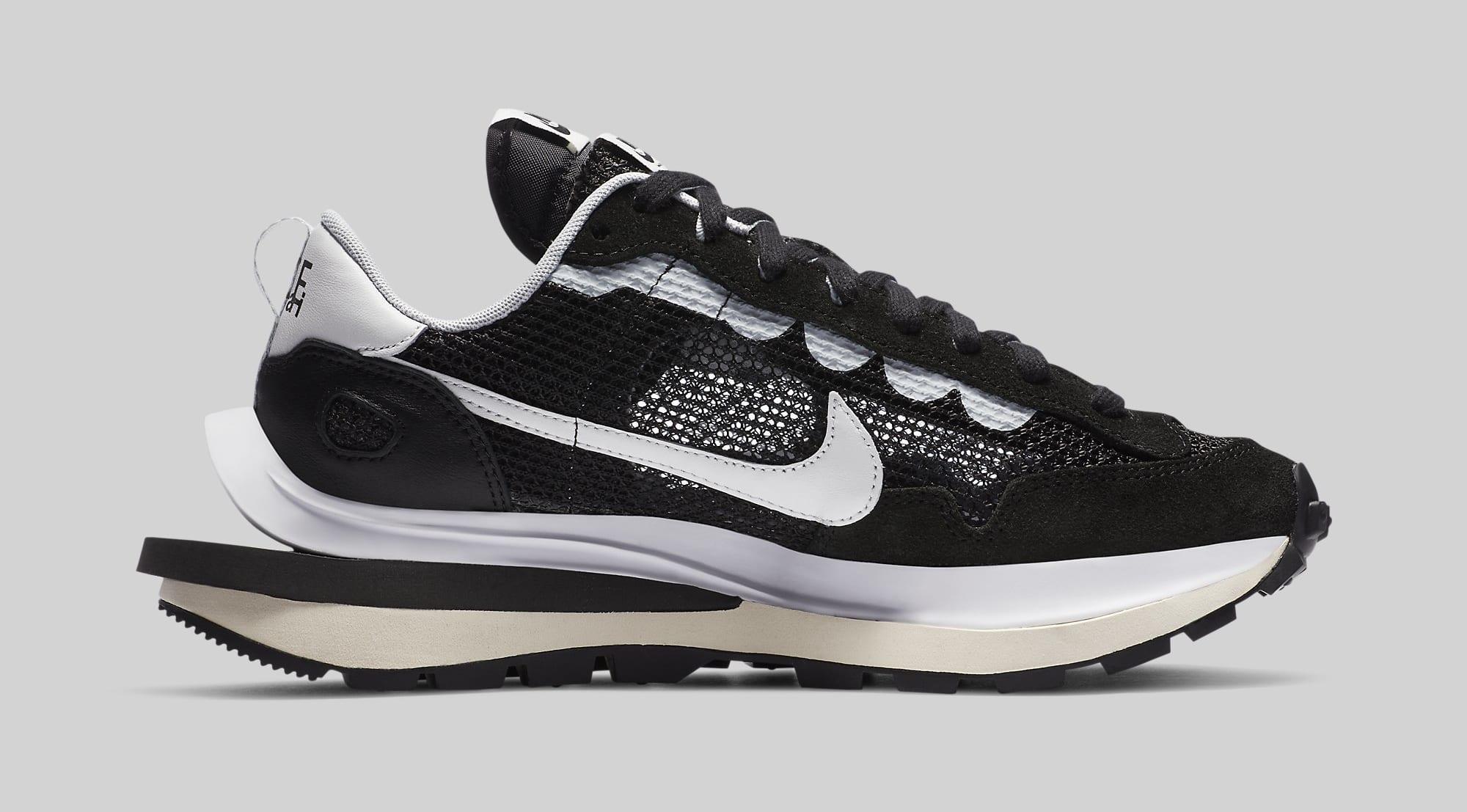 Sacai x Nike VaporWaffle 'Black' CV1363-001 Medial