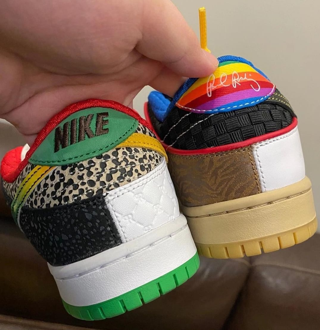 Nike SB Dunk Low What The PRod Release Date Heel