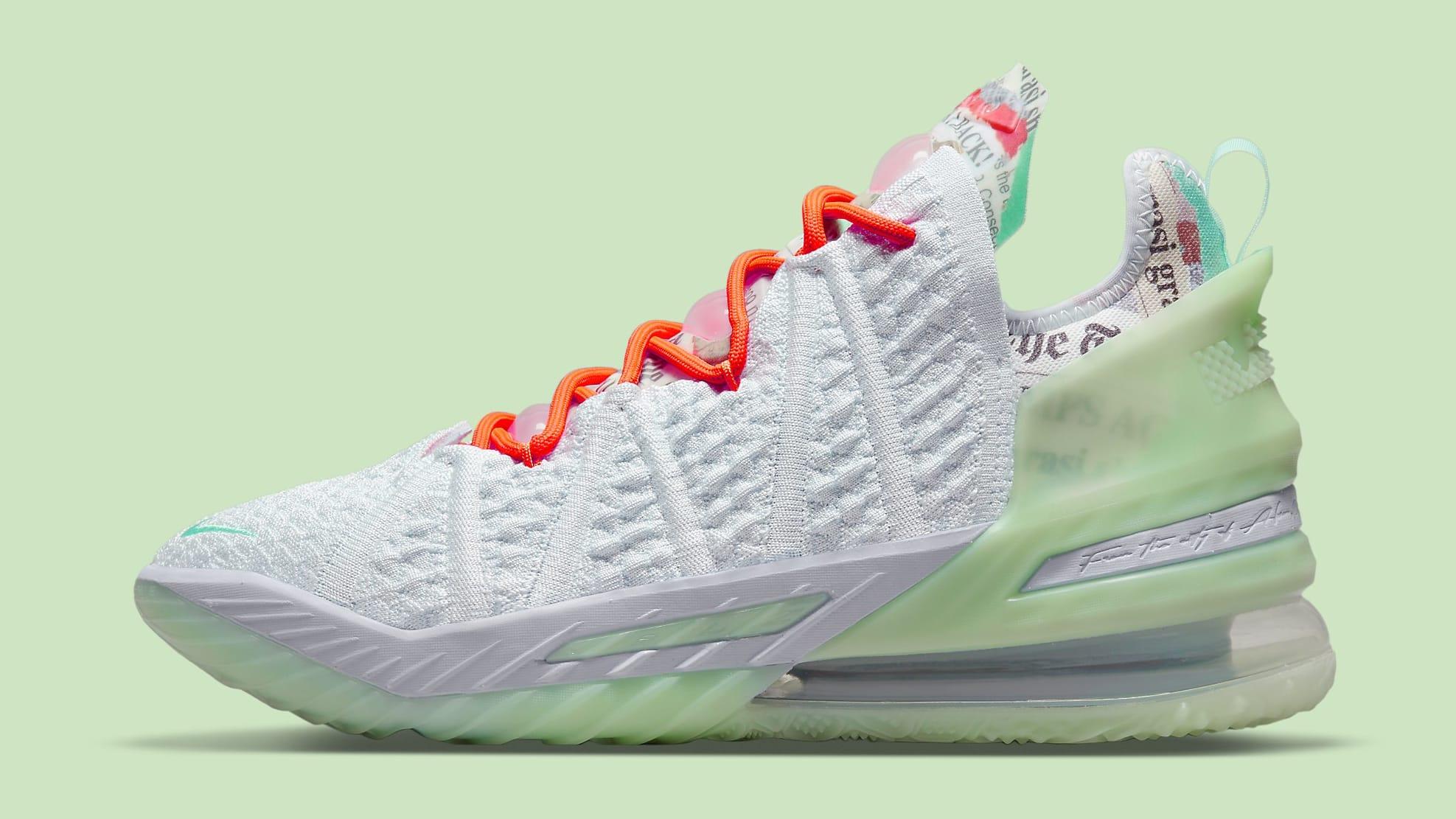 Diana Taurasi x Nike LeBron 18 PE CQ9283-401 Lateral