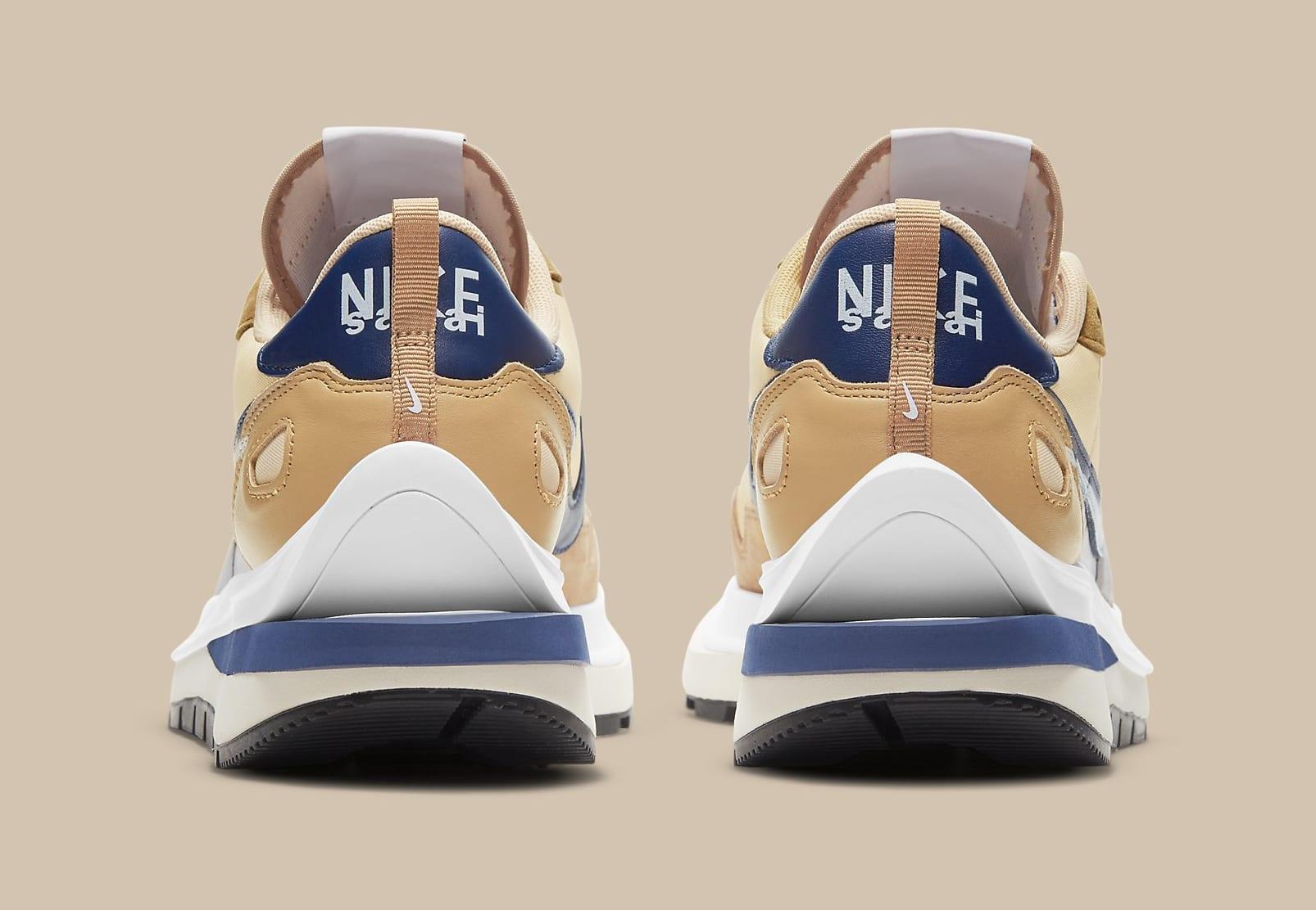 Sacai x Nike VaporWaffle 'Sesame/Blue Void' DD1875-200 Heel