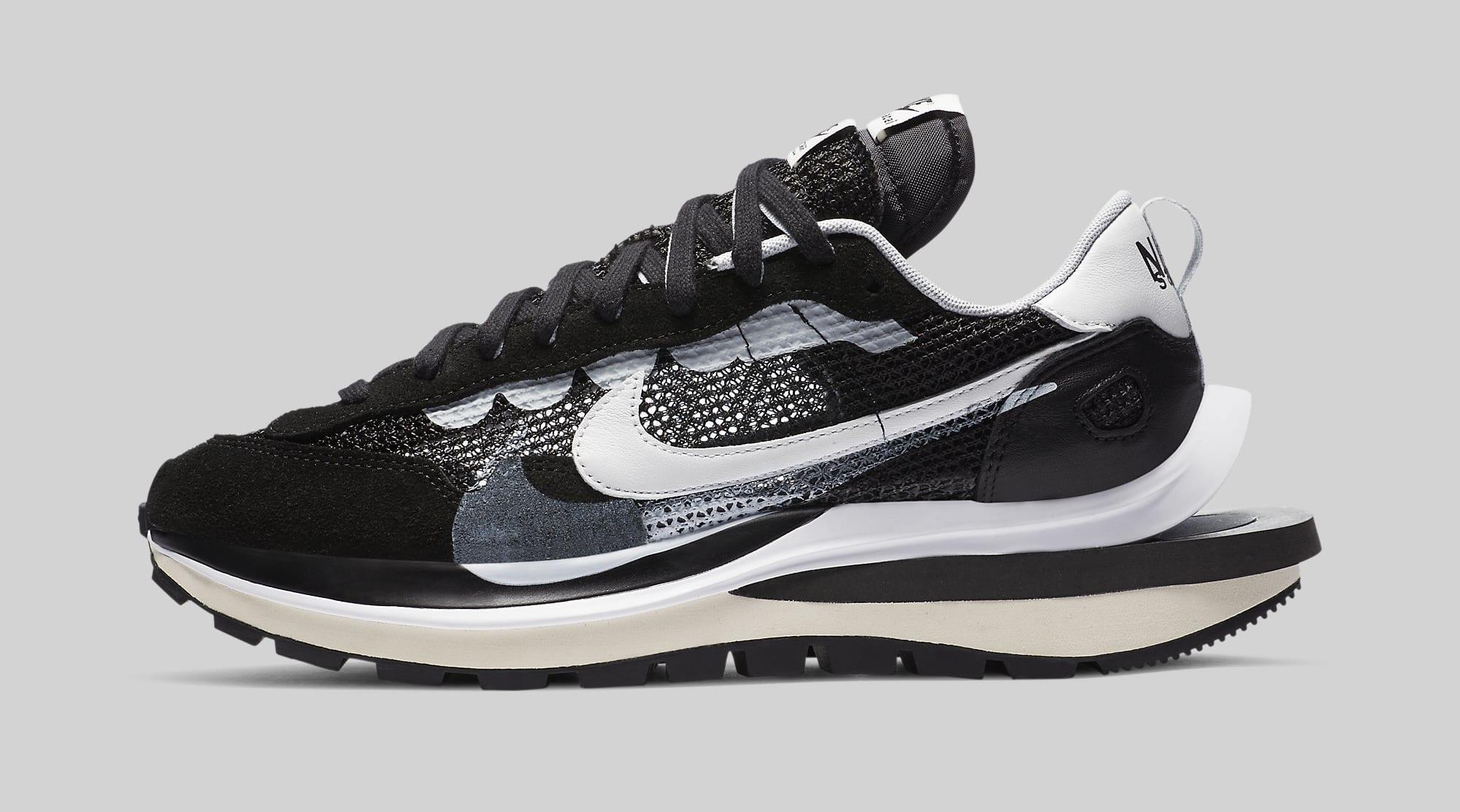 Sacai x Nike VaporWaffle 'Black' CV1363-001 Lateral