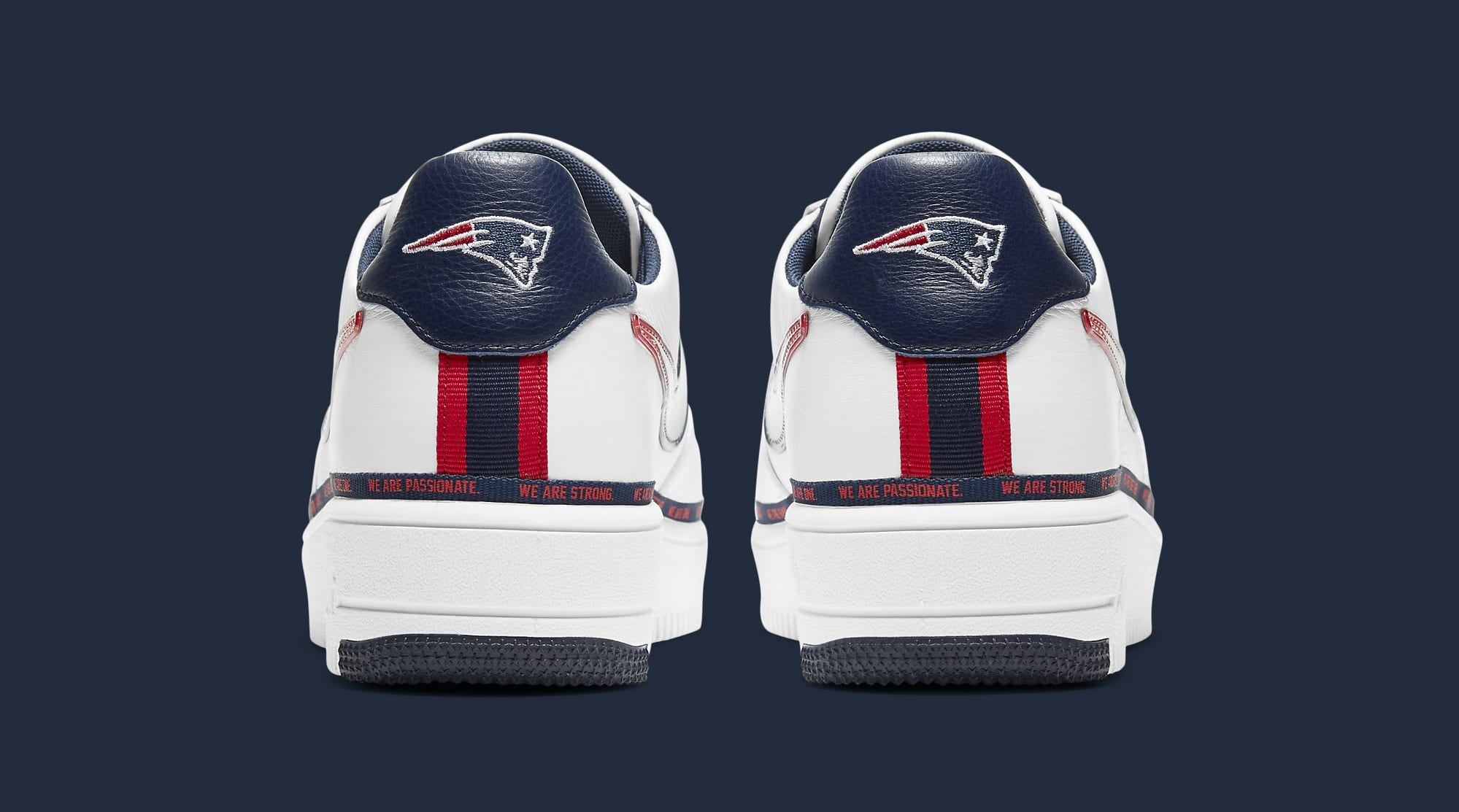 Nike Air Force 1 Ultraforce 'New England Patriots' DB6316-100 Heel