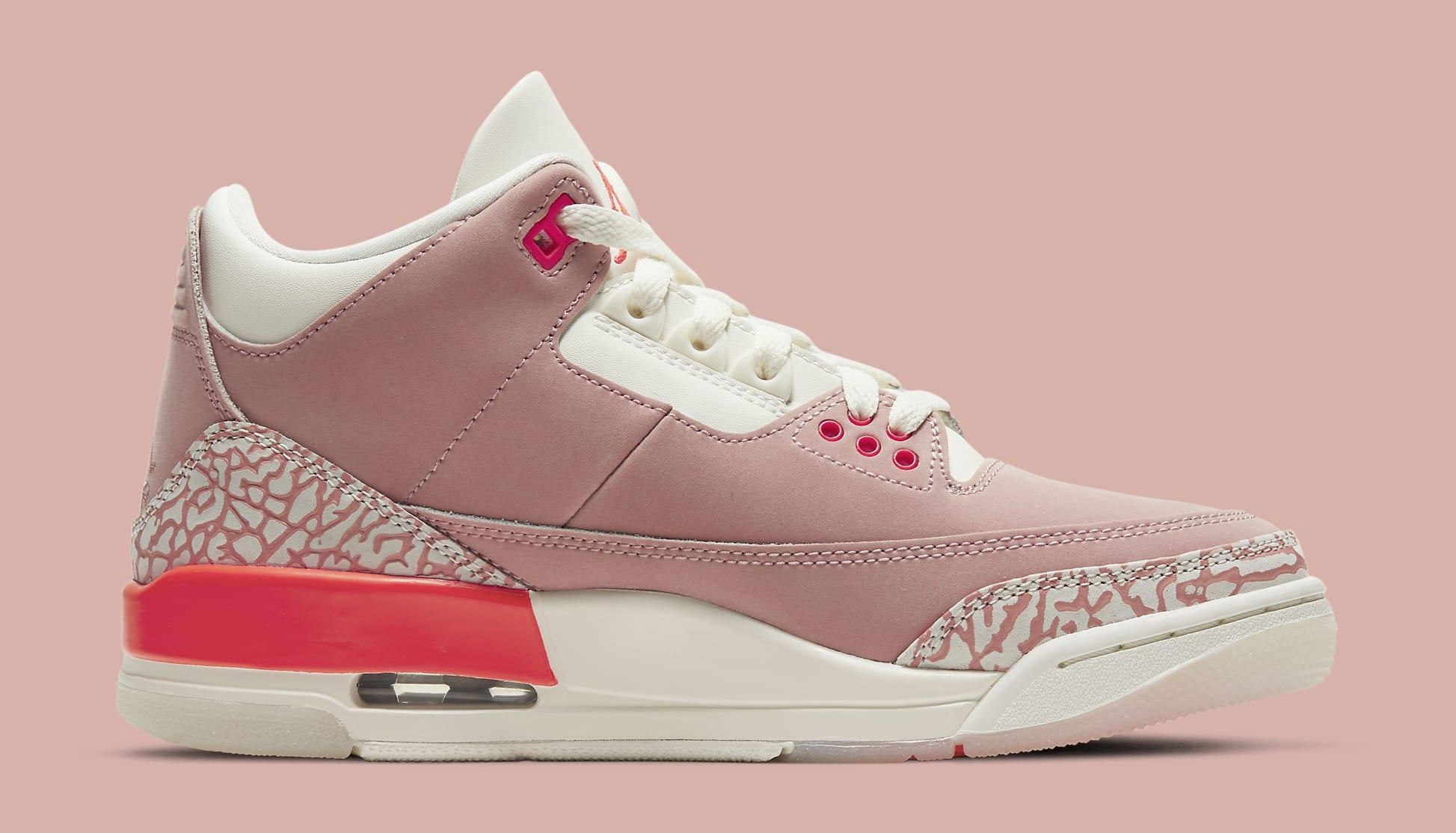 Air Jordan 3 Retro Women's 'Rust Pink' CK9246-600 Medial
