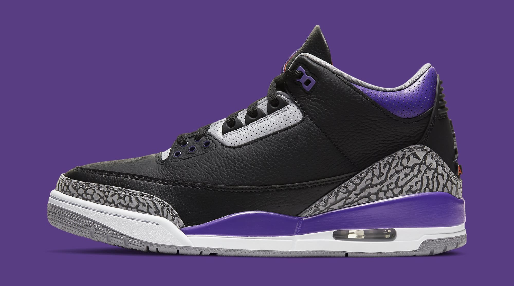 Air Jordan 3 Retro 'Court Purple' CT8532-050 Lateral