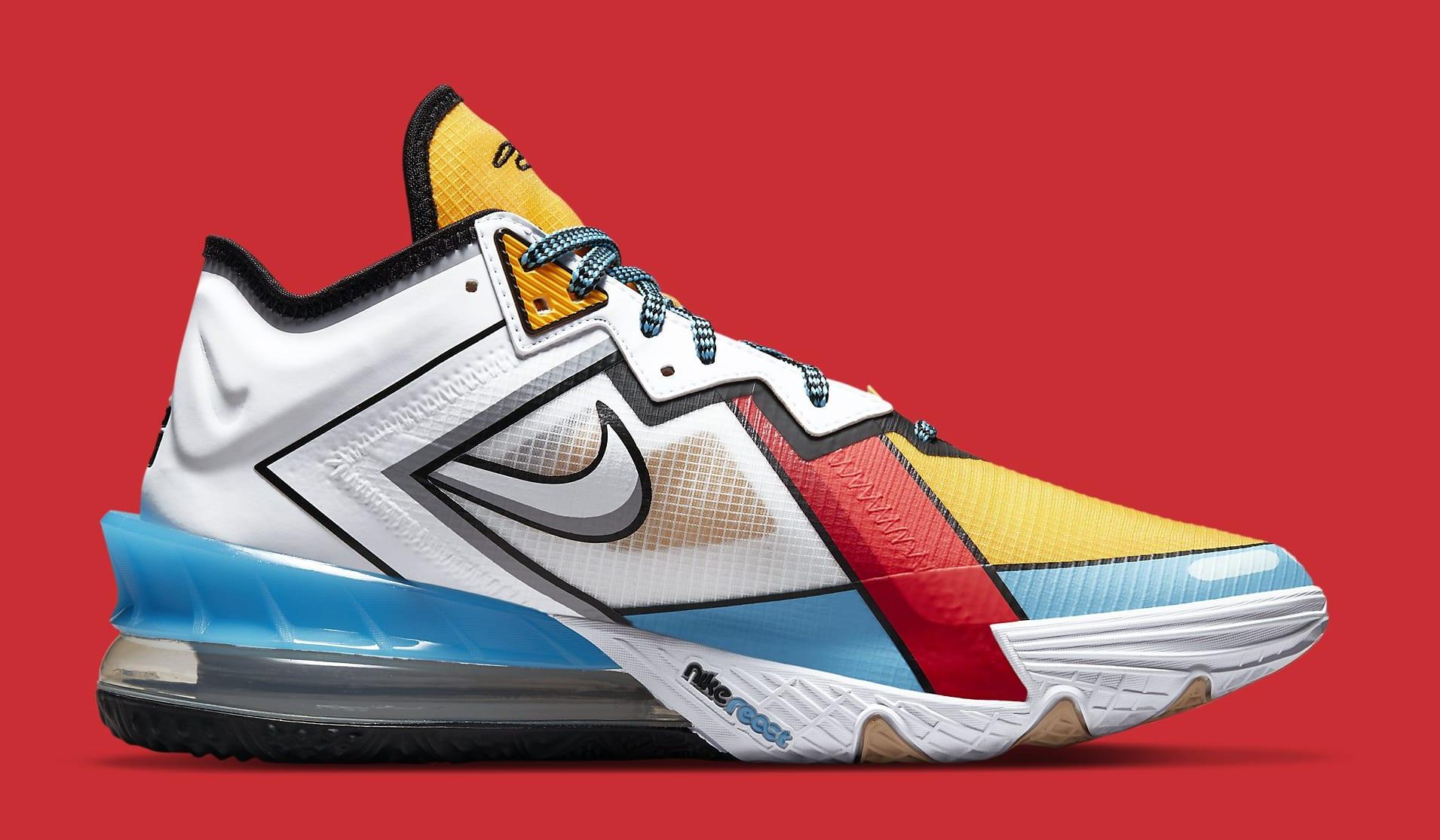Nike LeBron 18 Low 'Stewie Griffin' CV7564-104 Medial