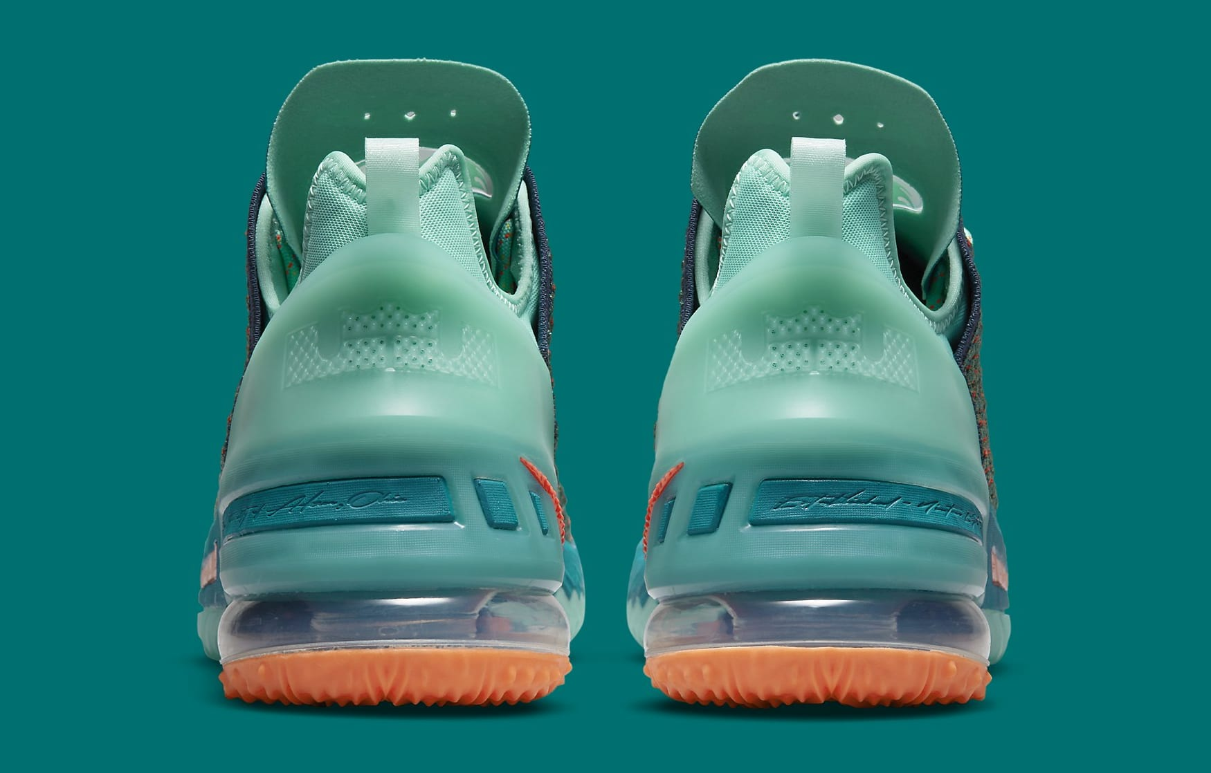 Nike LeBron 18 We Are Family Release Date CQ9283-300 Heel