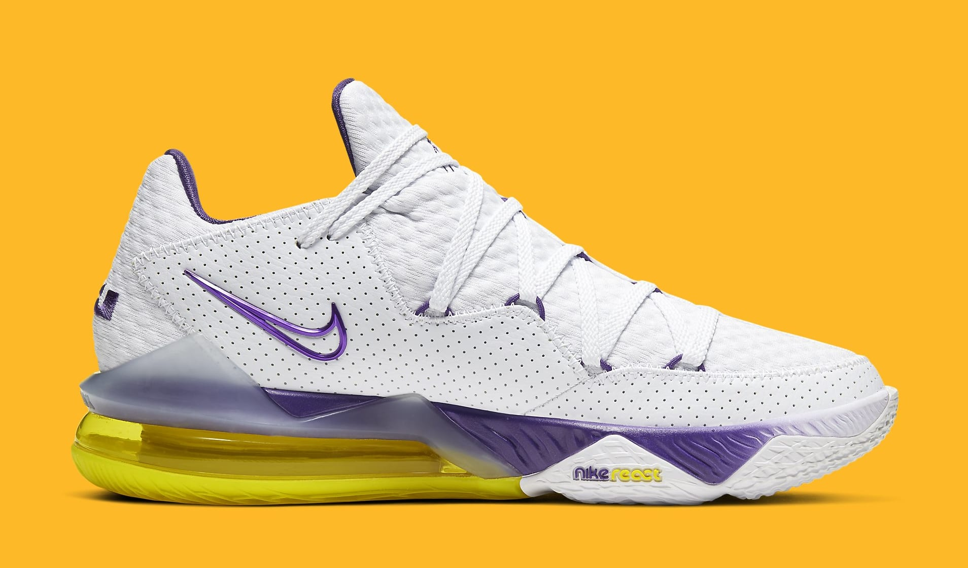 Nike LeBron 17 Low 'Lakers Home' CD5007-102 Medial