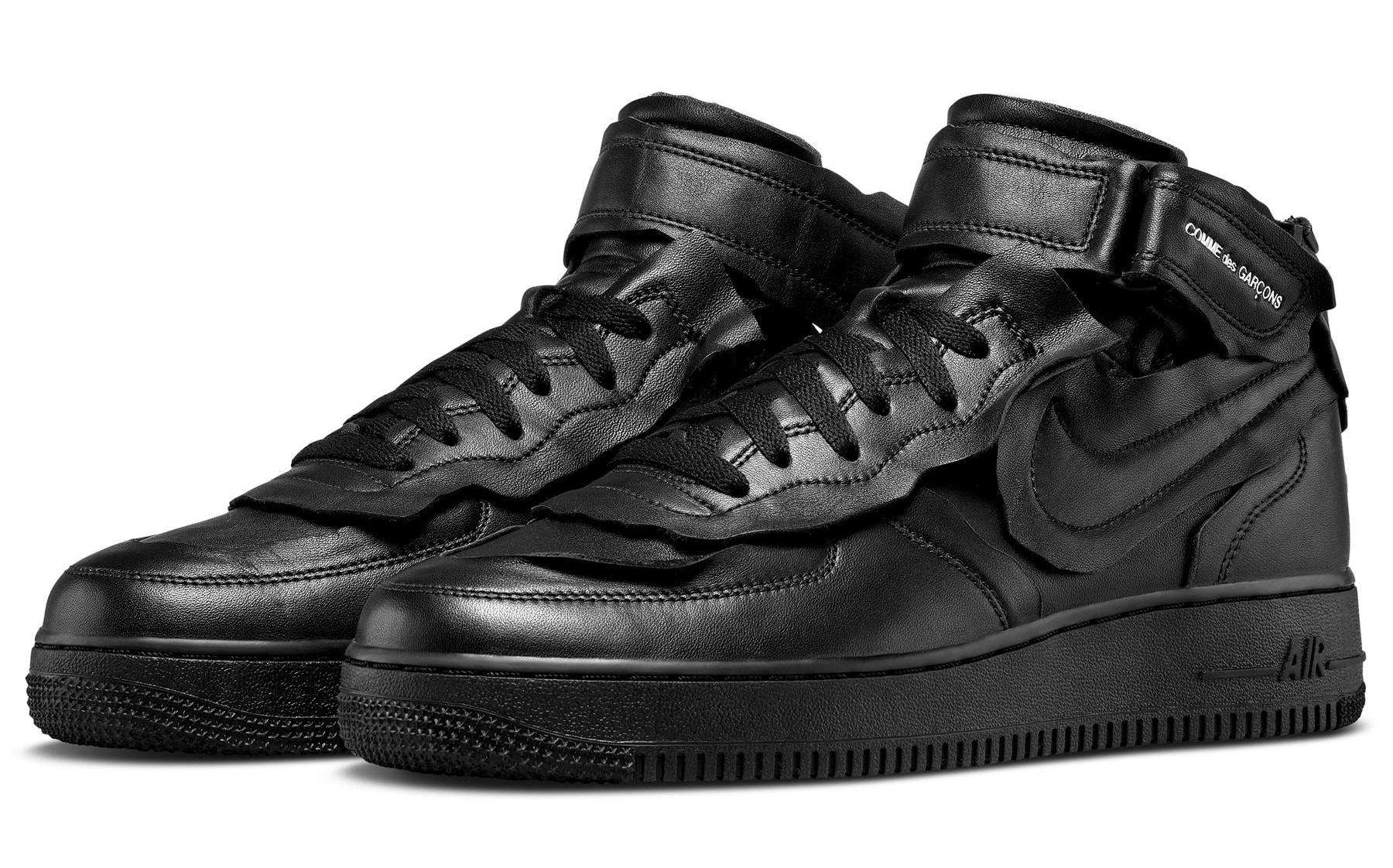Comme Des Garcons x Nike Air Force 1 Mid 'Black' F/W 20 Pair