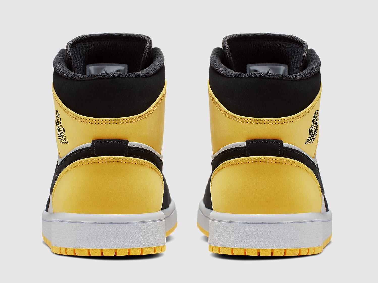 Air Jordan 1 Mid Yellow Toe Release Date 852542-071 Heel