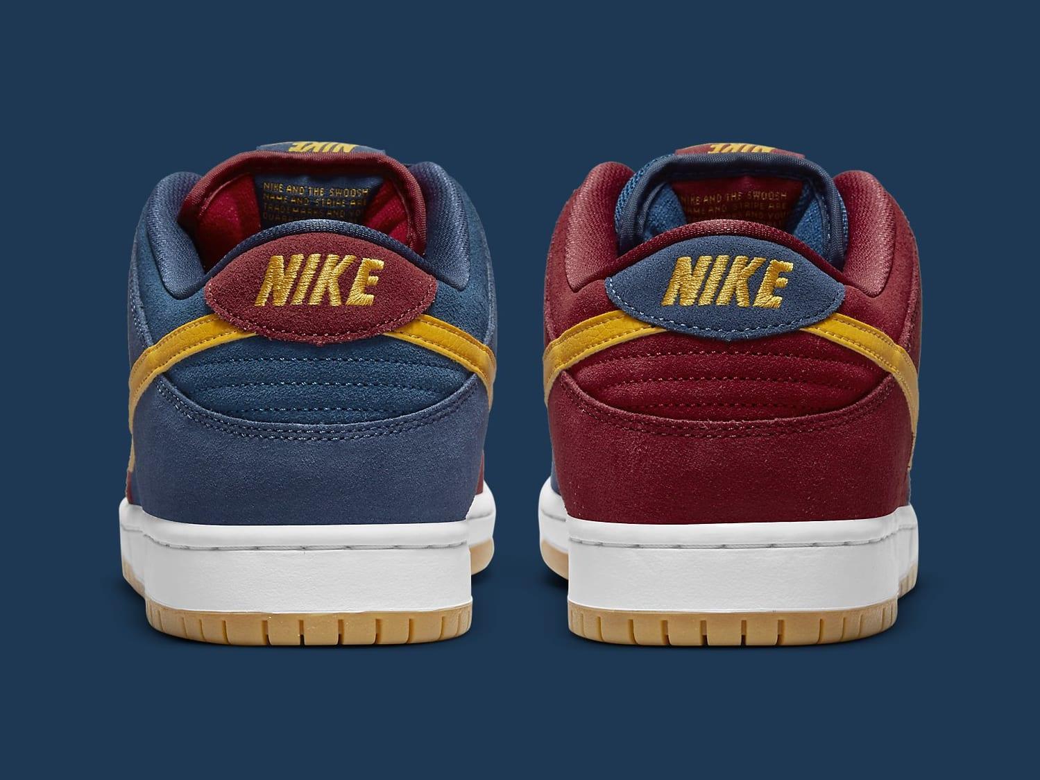 Nike SB Dunk Low Barcelona Release Date DJ0606-400 Heel