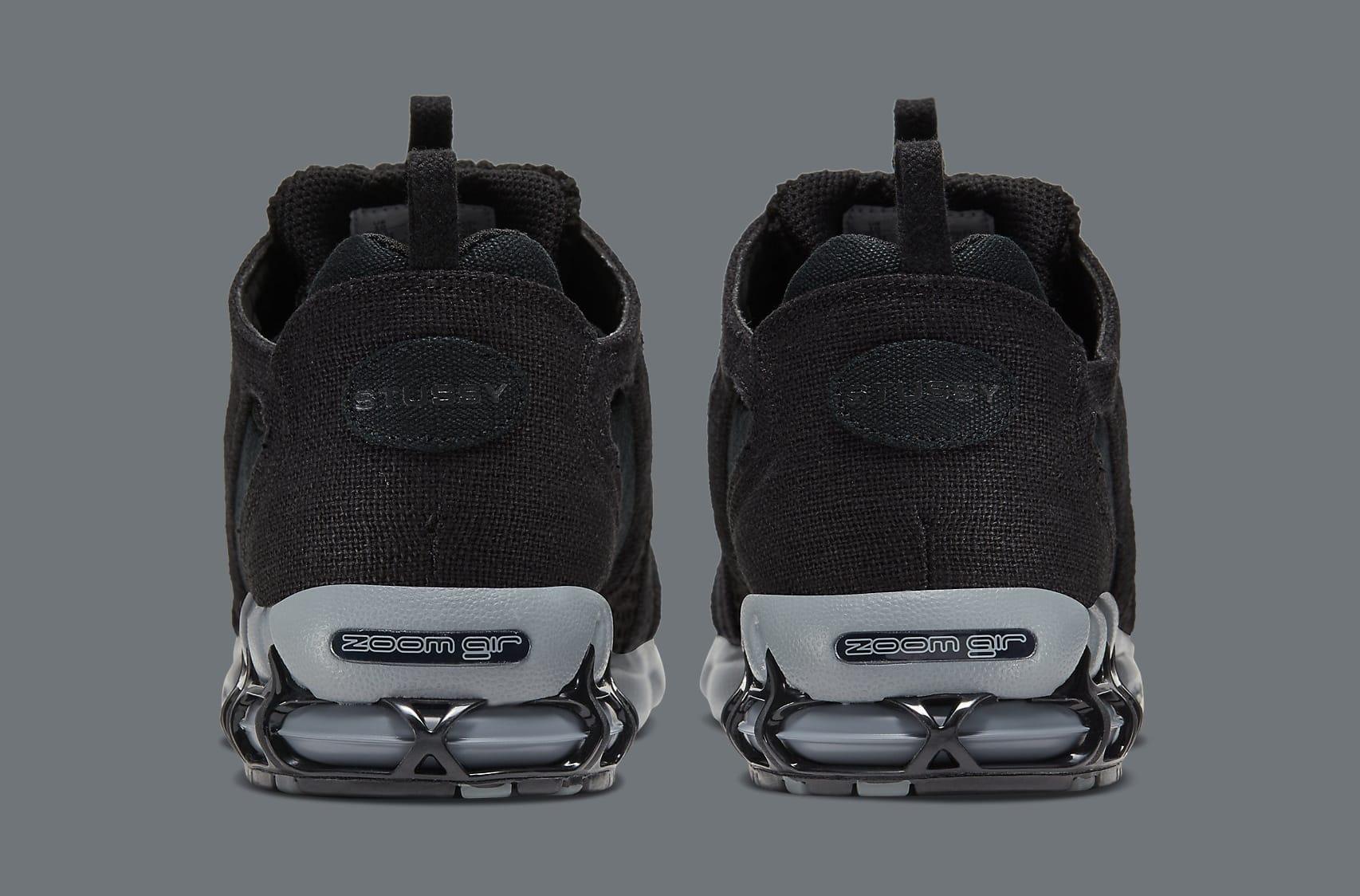 Stussy x Nike Air Zoom Spiridon Cage 2 CQ5486-001 Heel