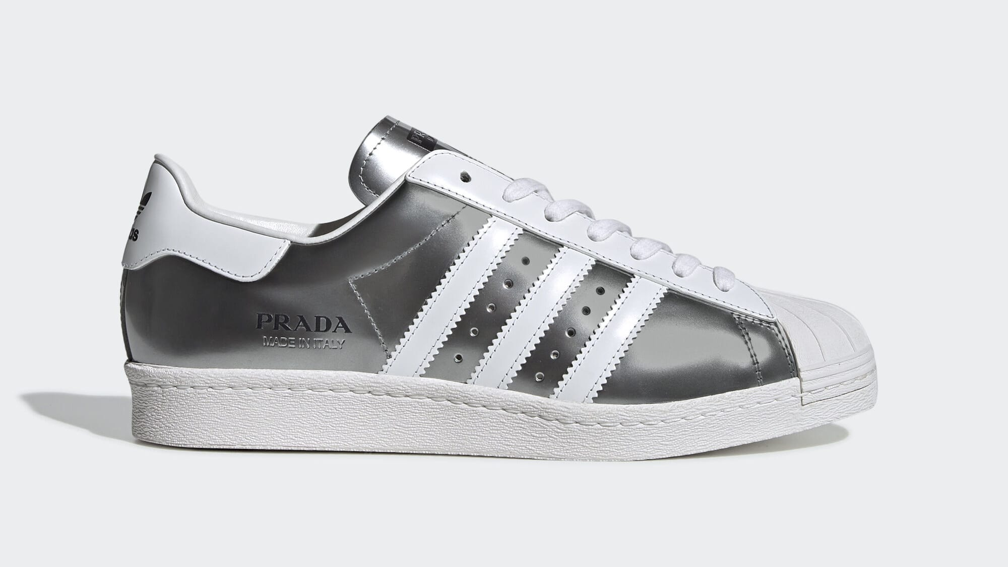 Prada x Adidas Superstar 'Silver Metallic' FX4546 (Lateral)
