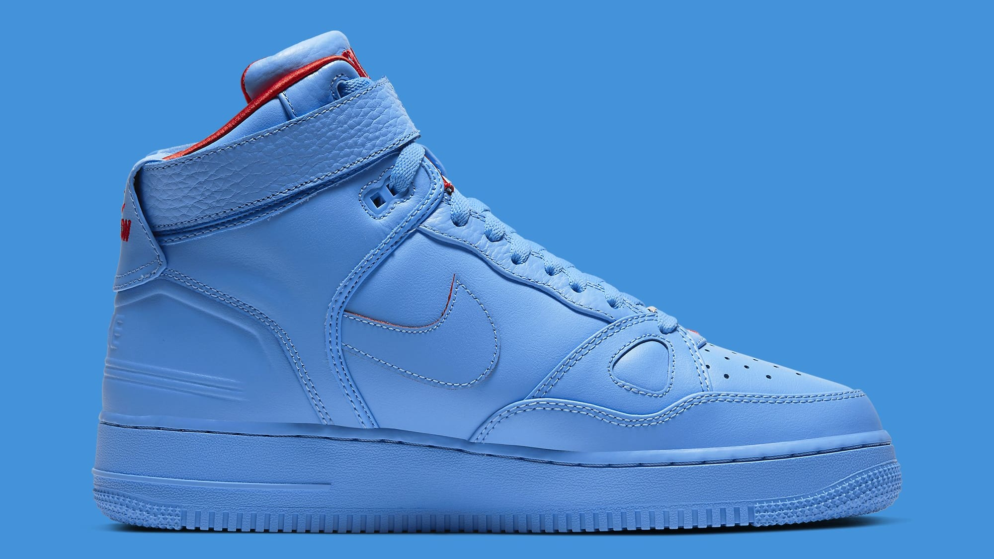 Don C x Nike Air Force 1 High Release Date CW3812-400 Medial